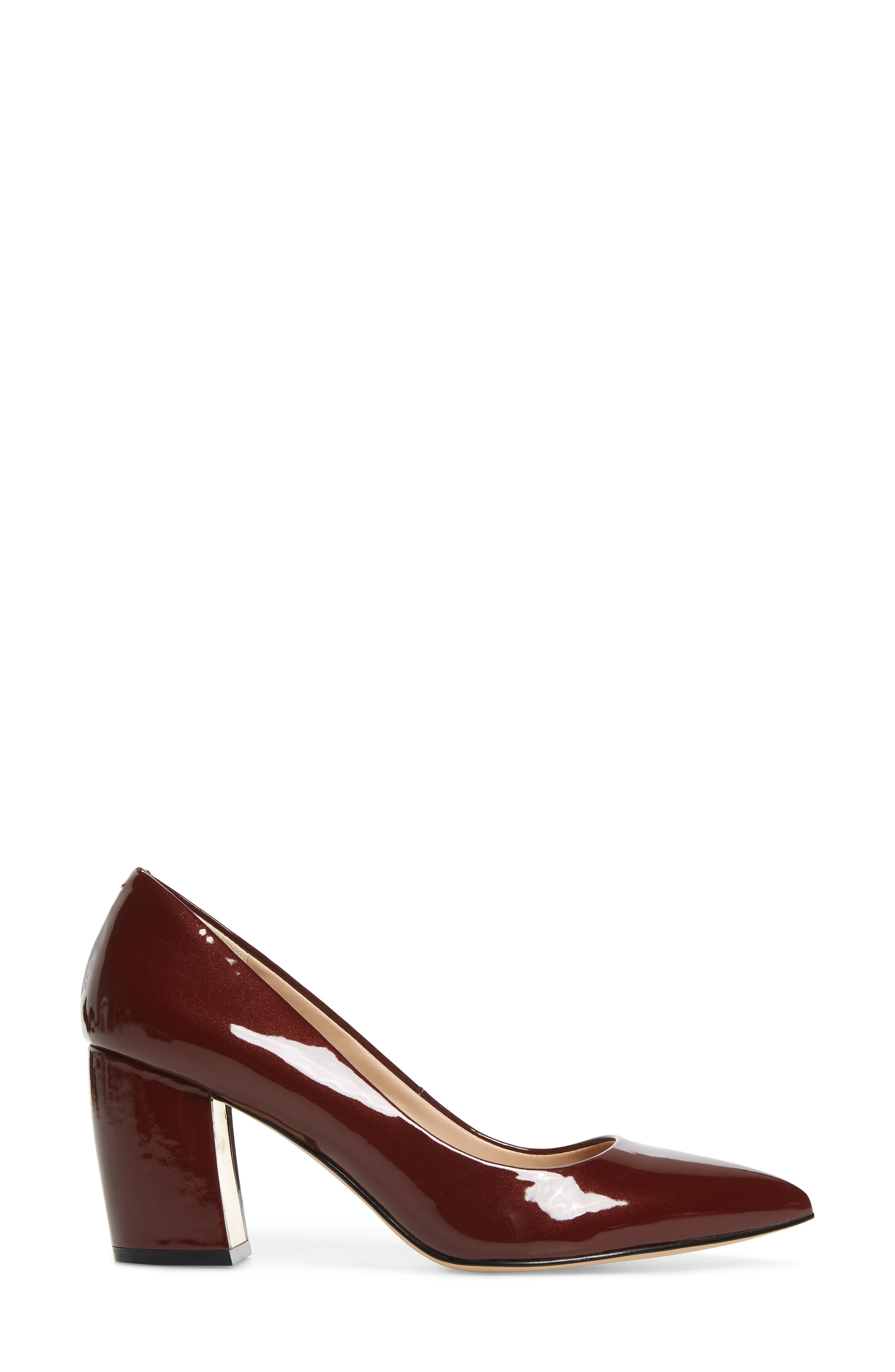 Addie Pump,                             Alternate thumbnail 3, color,                             BURGUNDY PATENT LEATHER