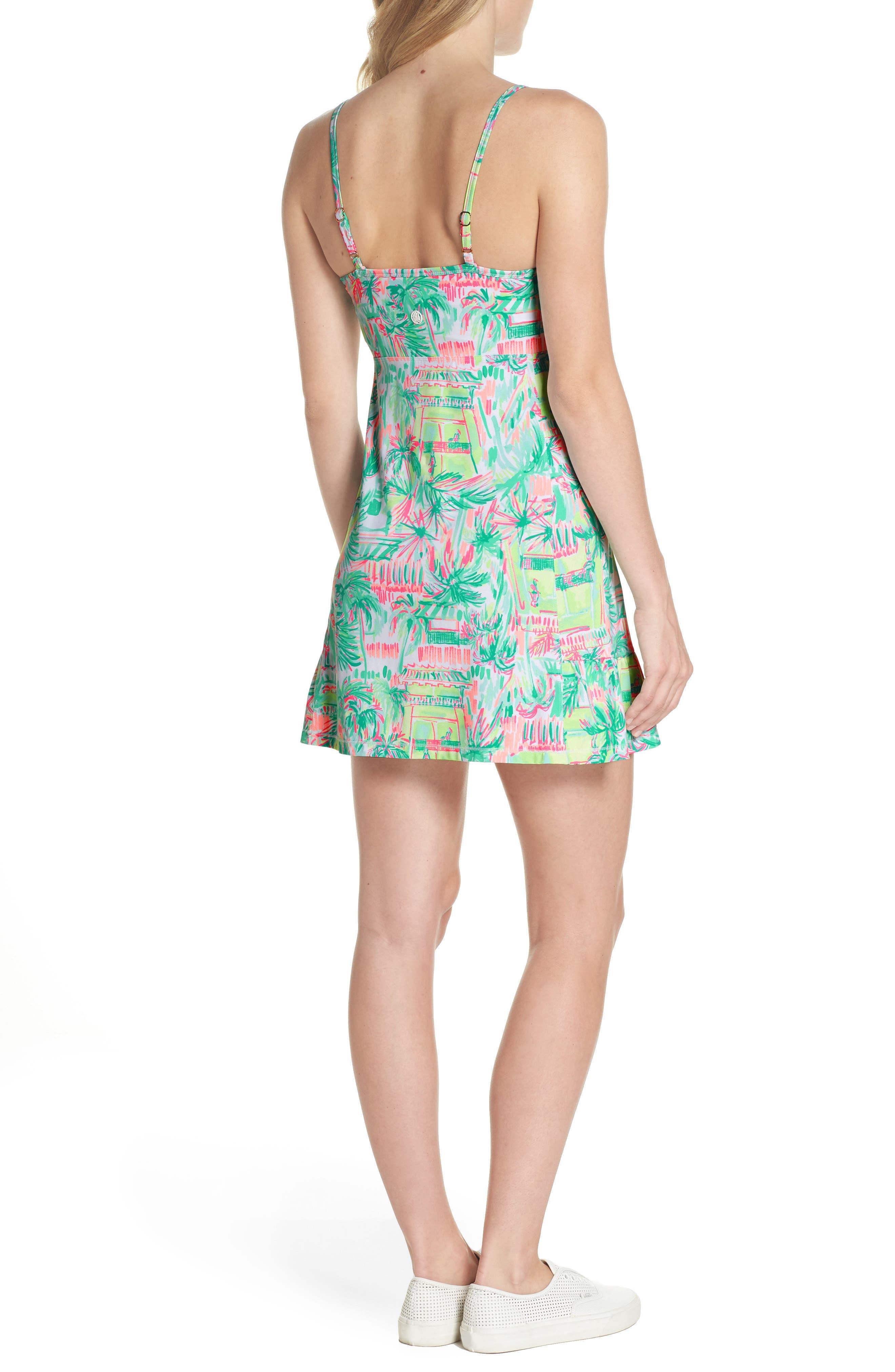 Adelia UPF 50+ Tennis Dress,                             Alternate thumbnail 2, color,                             MULTI PERFECT MATCH