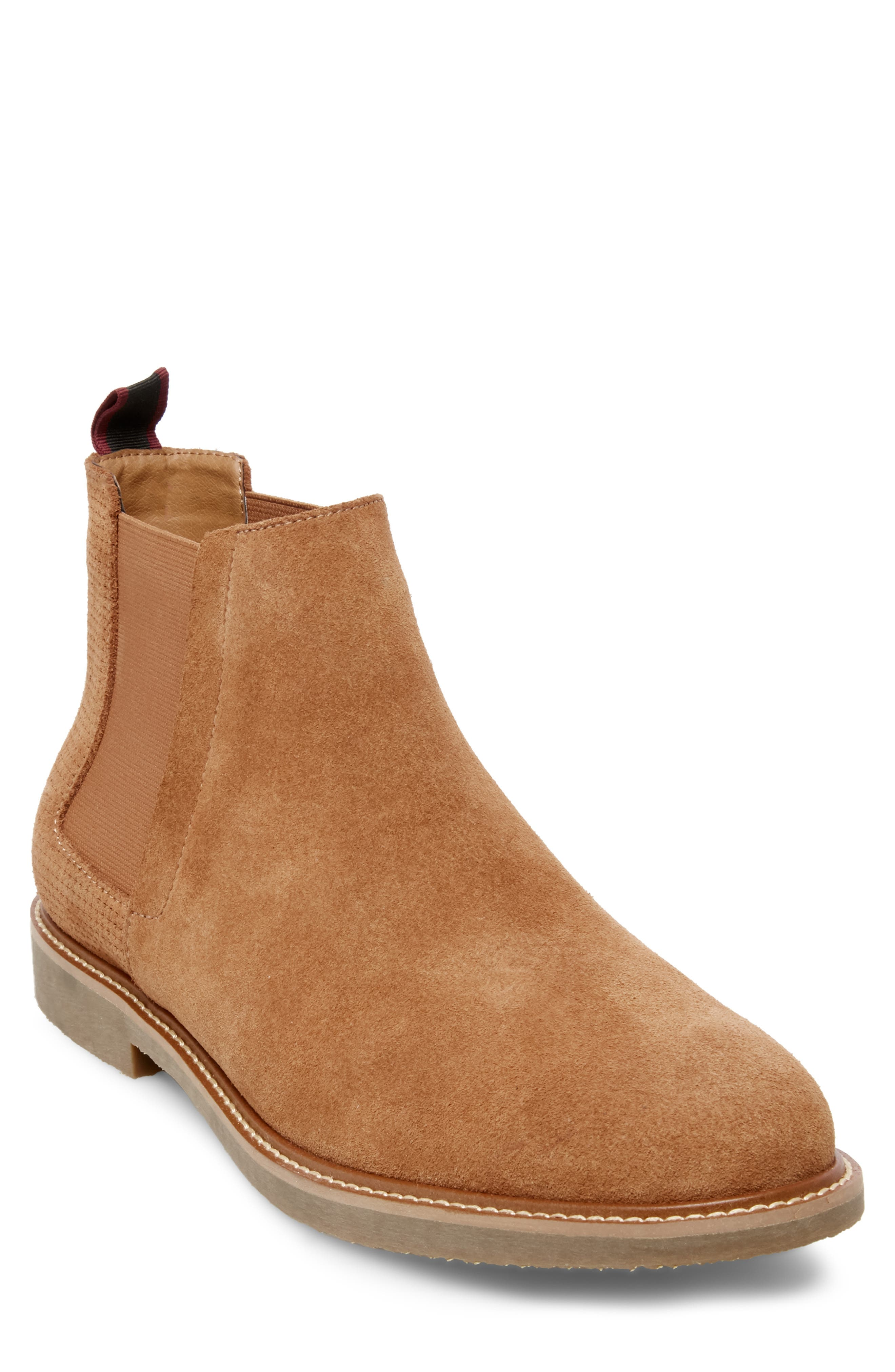 Steve Madden Highlyte Textured Chelsea Boot- Brown