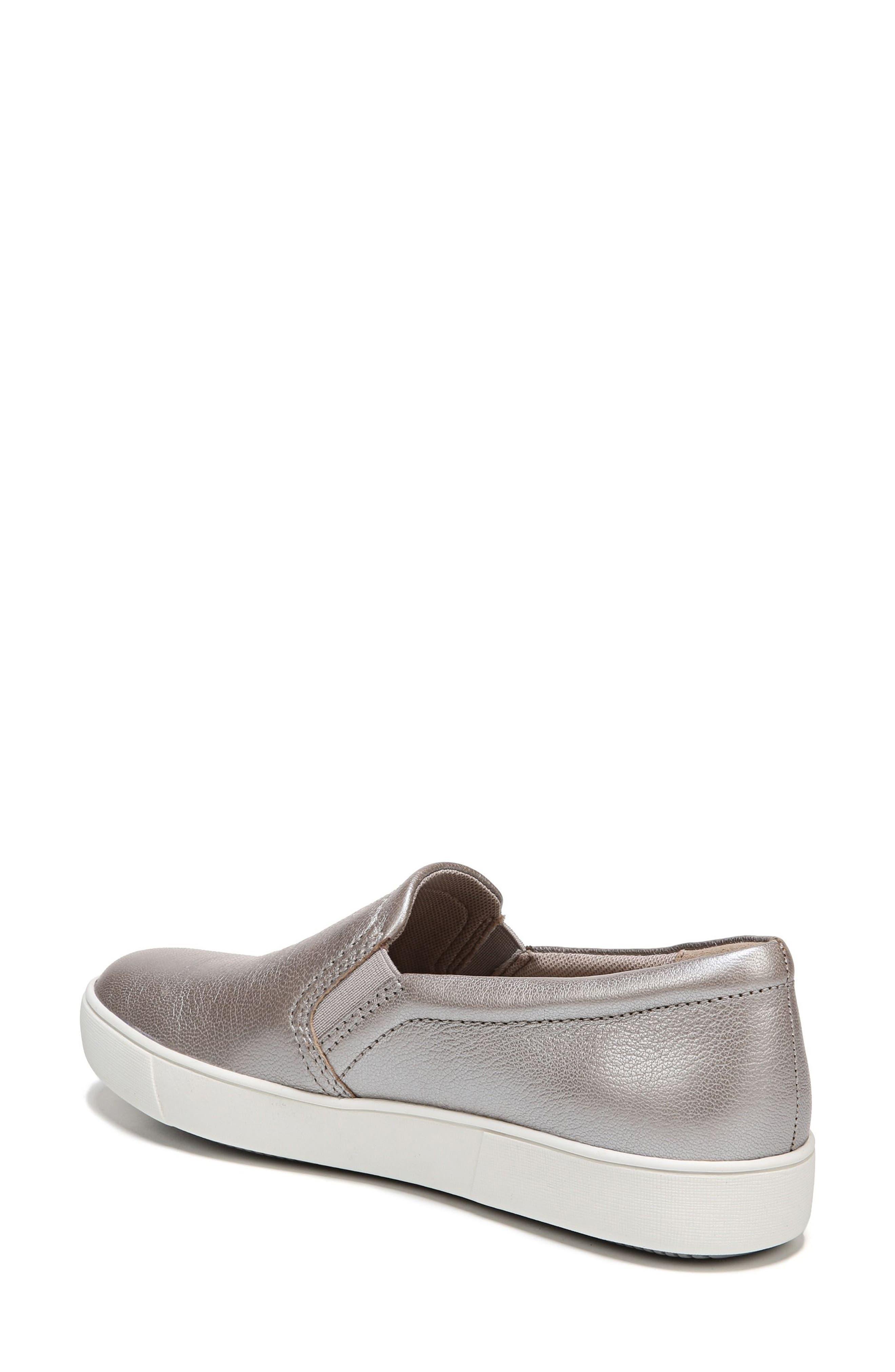 Marianne Slip-On Sneaker,                             Alternate thumbnail 2, color,                             SILVER LEATHER