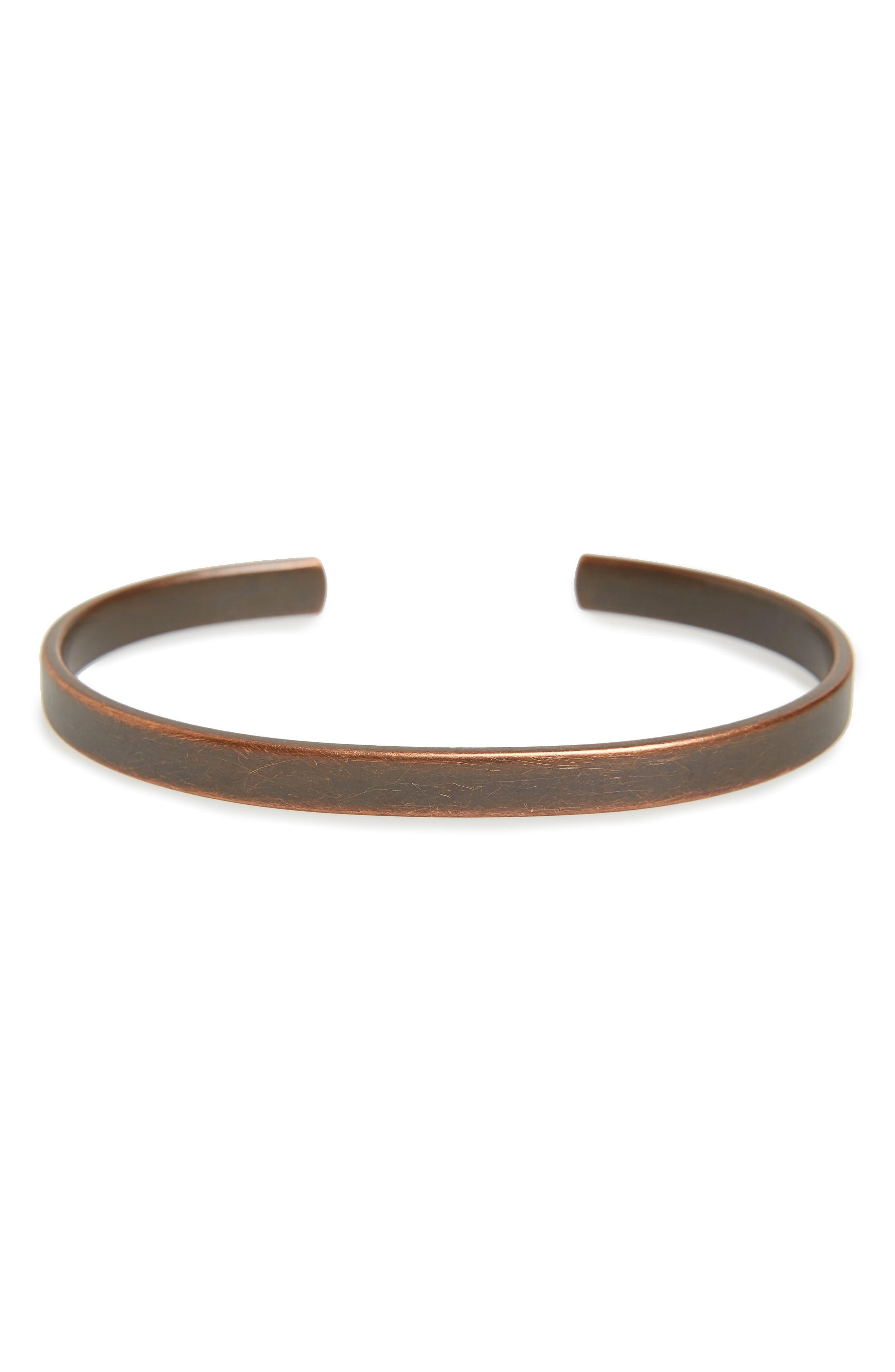CAPUTO & CO. Clean Metal Cuff Bracelet in Antique Silver