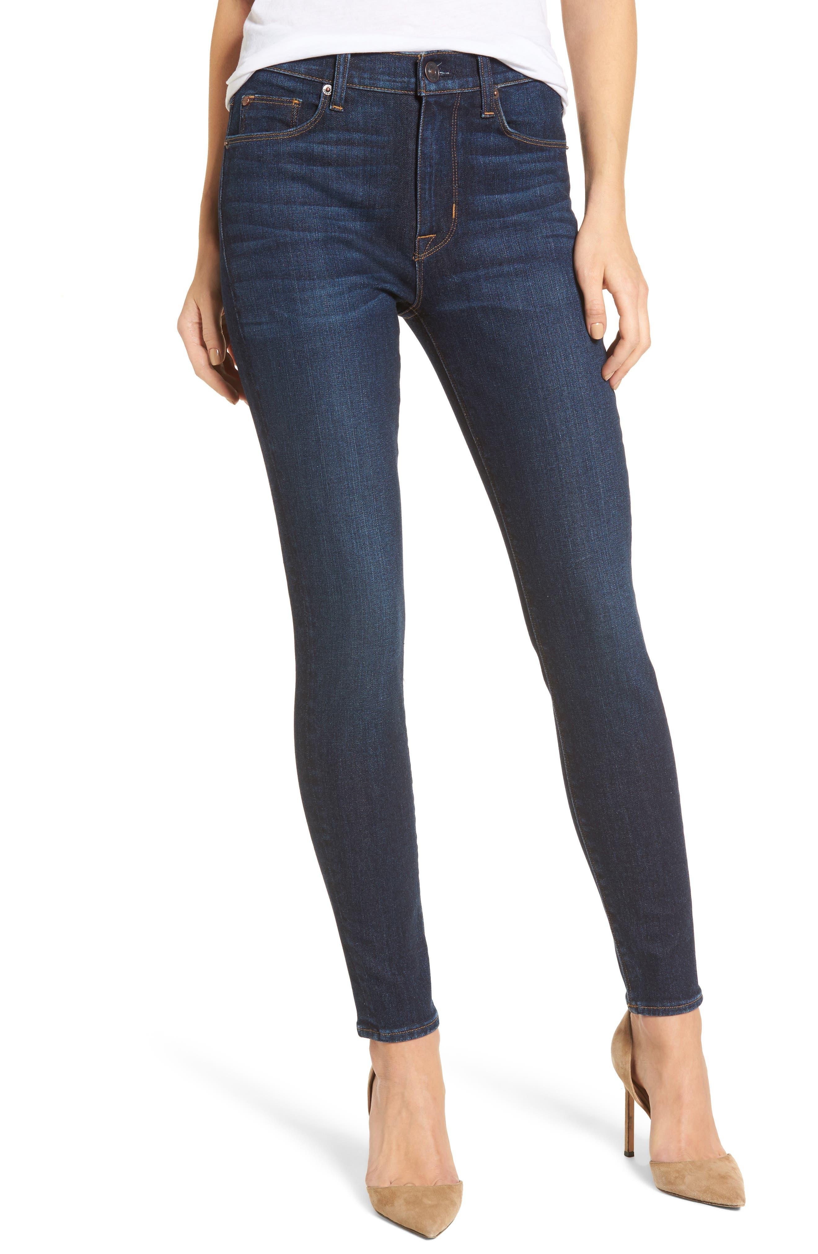 Barbara High Waist Ankle Super Skinny Jeans,                         Main,                         color, 402