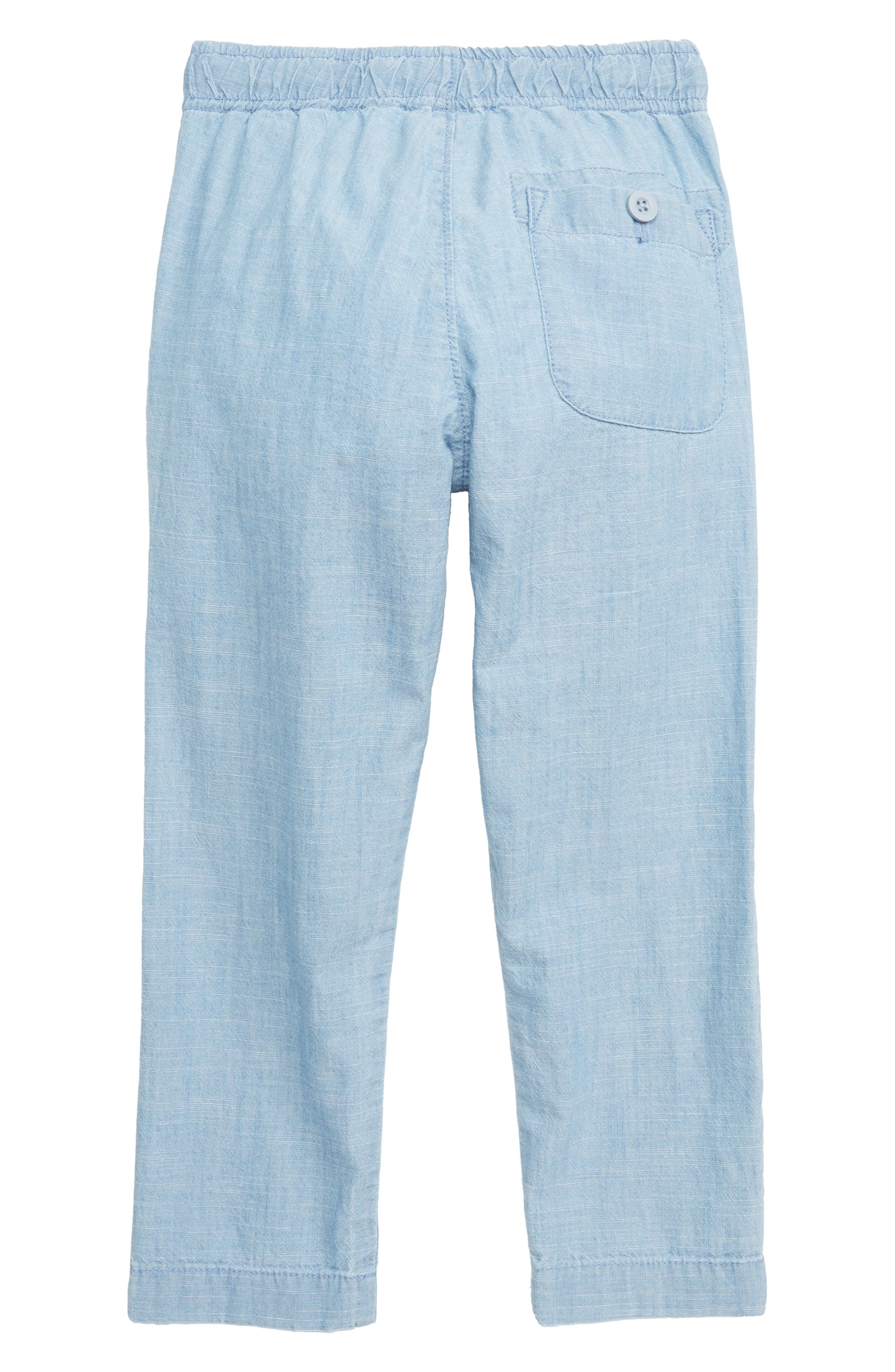 CREWCUTS BY J.CREW,                             Pull-On Chambray Pants with Reinforced Knees,                             Alternate thumbnail 2, color,                             MEDIUM CHAMBRAY WASH