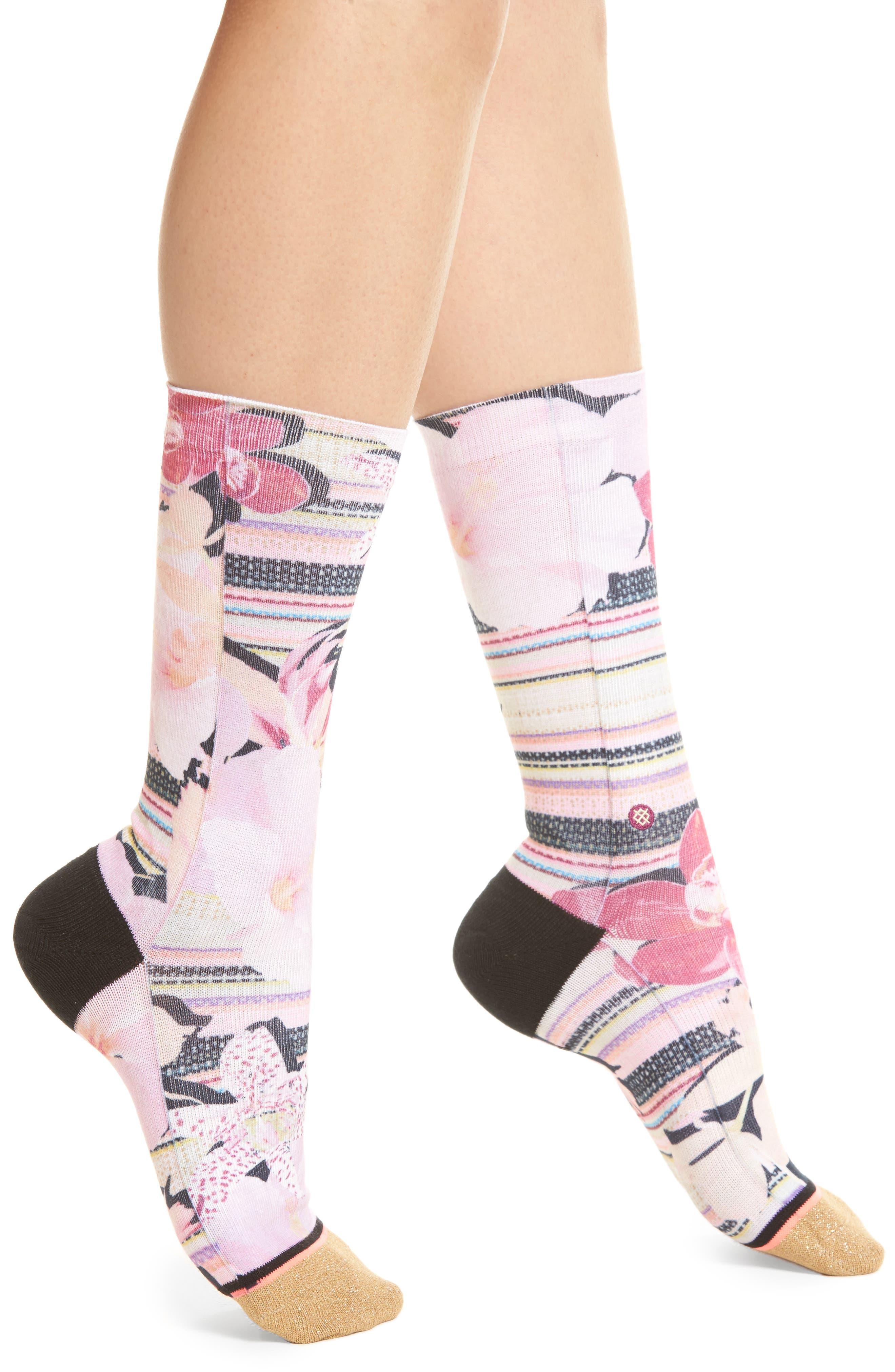 Santorini Tomboy Crew Socks,                         Main,                         color, 650