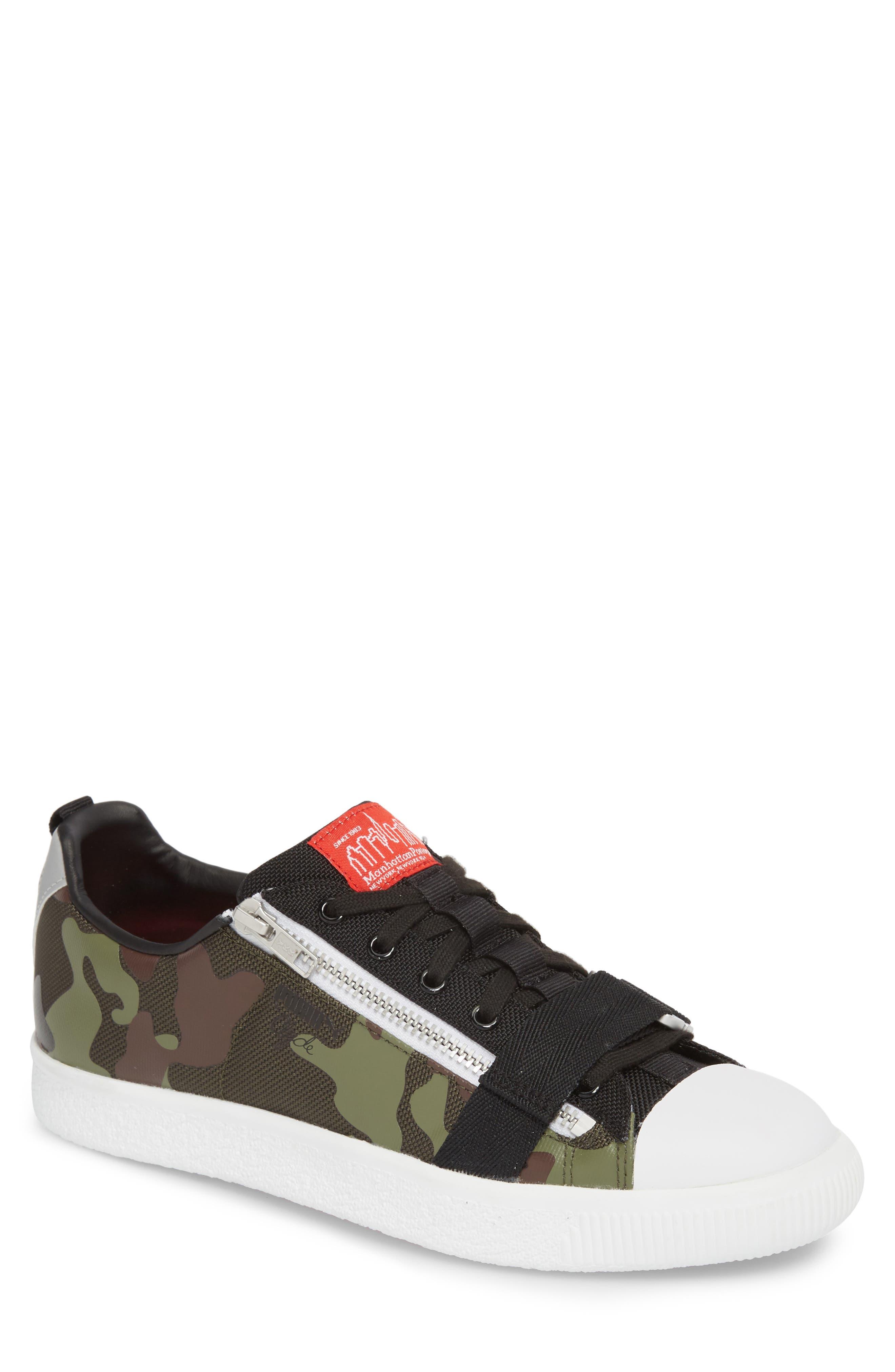 x MANHATTAN PORTAGE Clyde Zip Sneaker,                             Main thumbnail 1, color,                             300