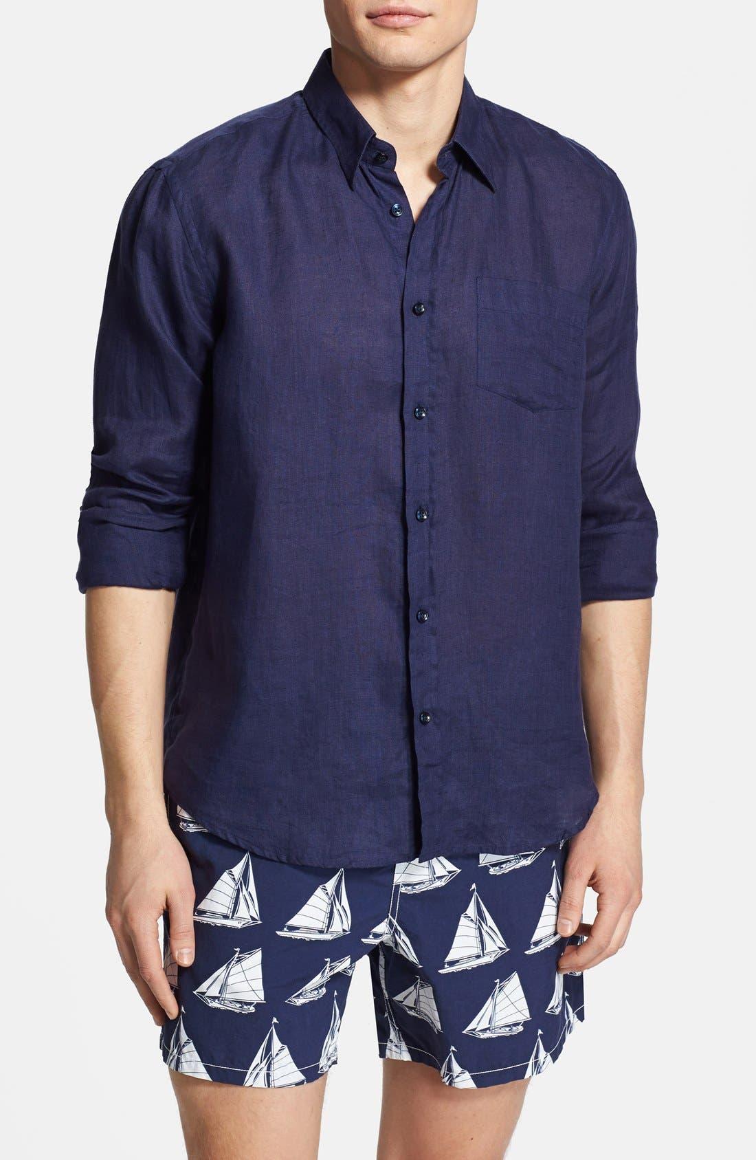 'Caroubier' Linen Shirt,                             Alternate thumbnail 53, color,