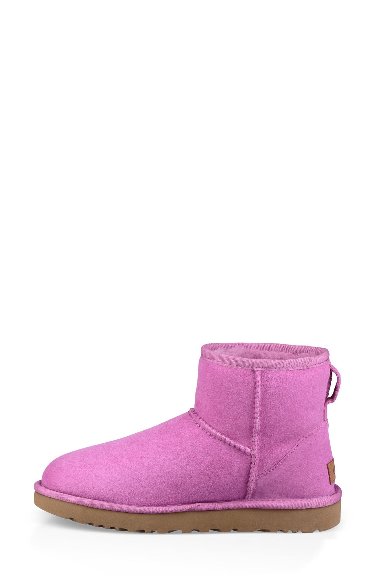 'Classic Mini II' Genuine Shearling Lined Boot,                             Alternate thumbnail 6, color,                             BODACIOUS SUEDE