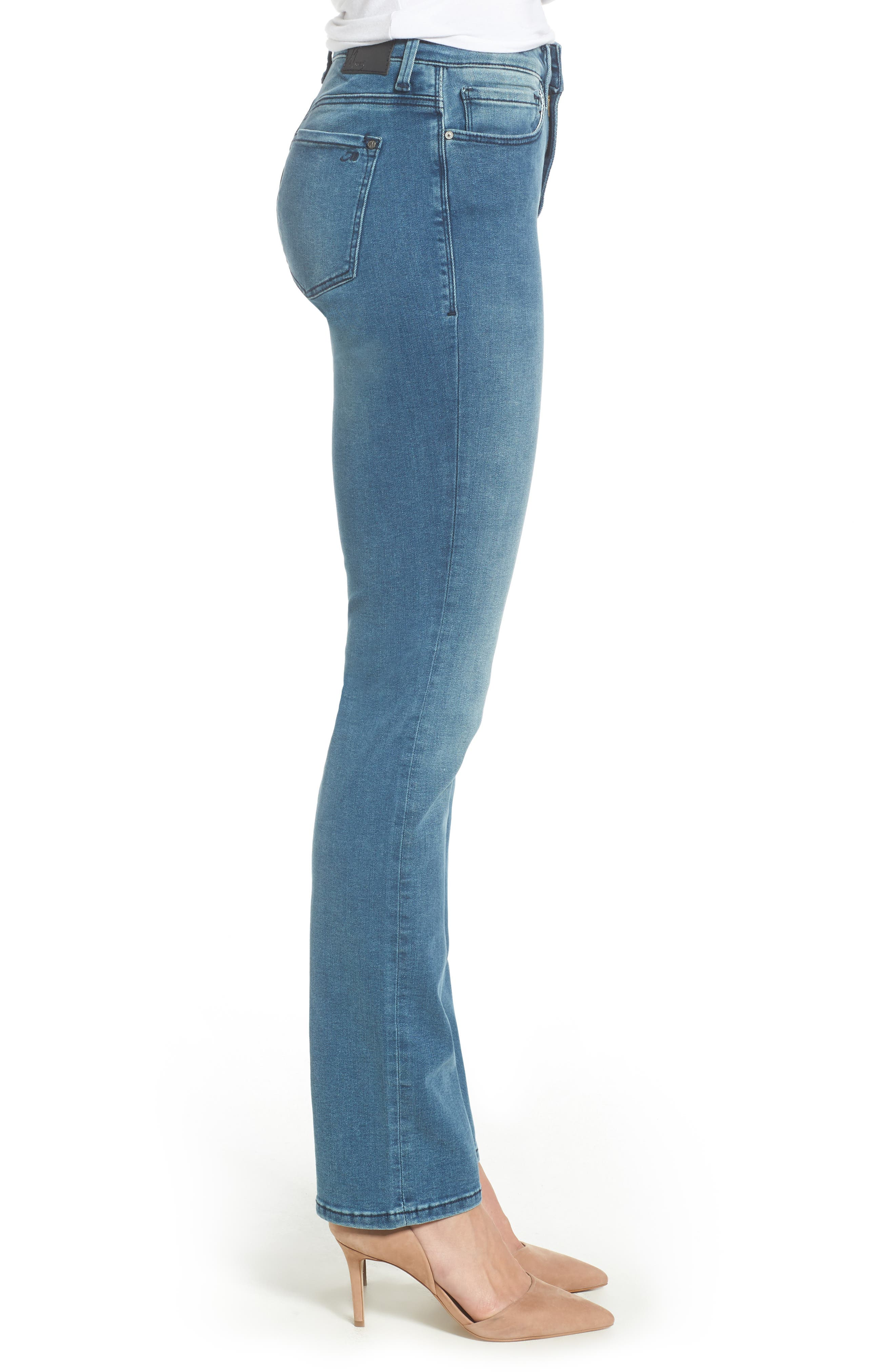 Kendra High Waist Straight Leg Jeans,                             Alternate thumbnail 3, color,                             420