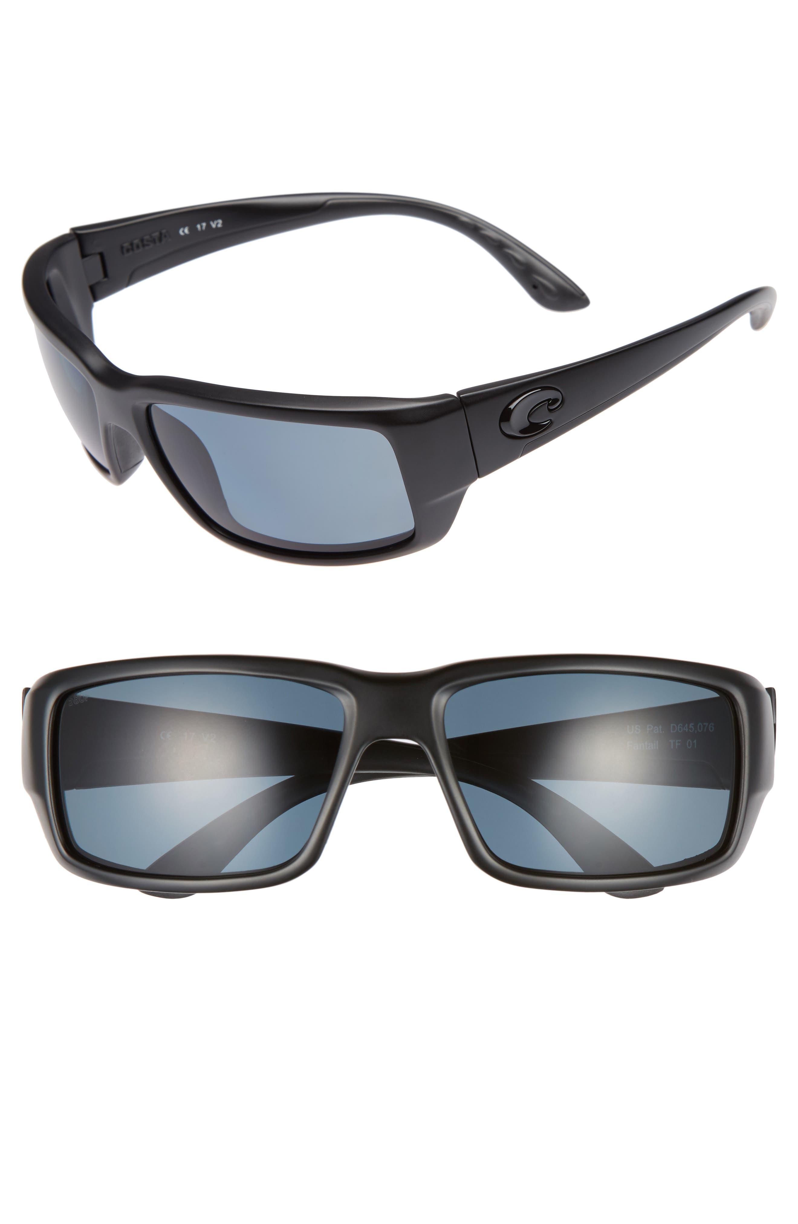 Fantail 60mm Polarized Sunglasses,                             Main thumbnail 1, color,                             001