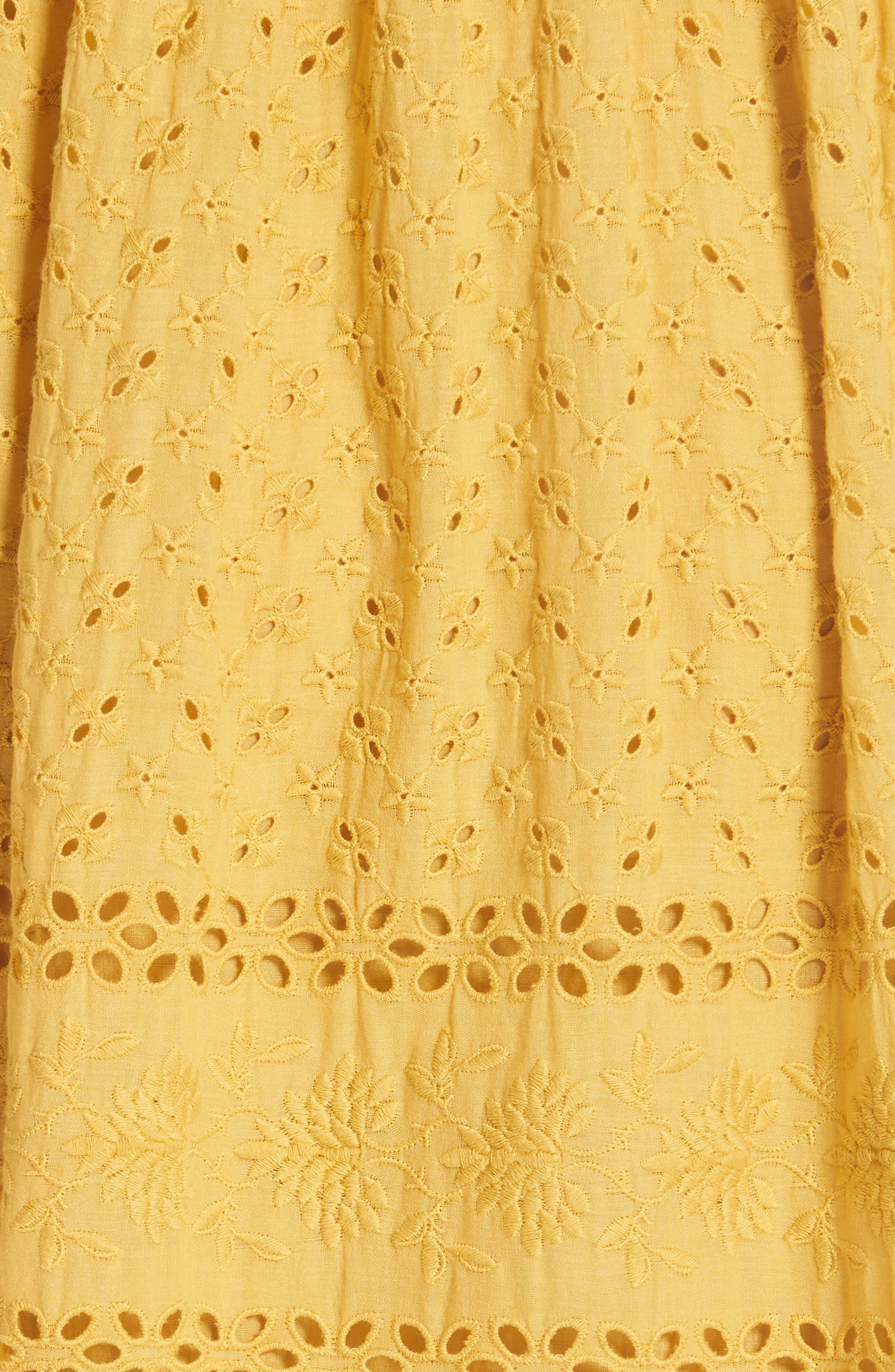 Marjorie Eyelet Dress,                             Alternate thumbnail 5, color,                             700