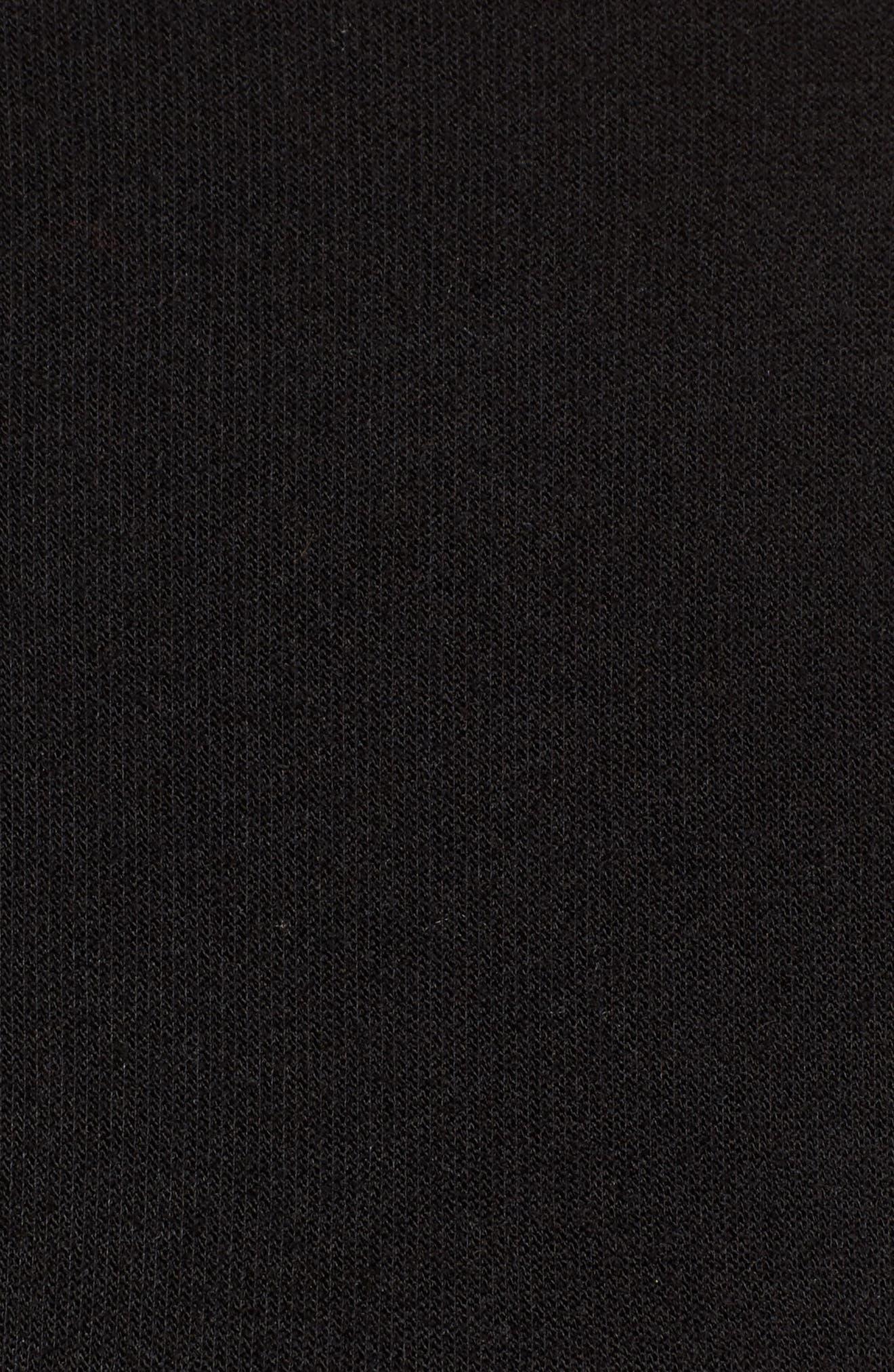 Gathered Waist Front Zip Jacket,                             Alternate thumbnail 6, color,                             001