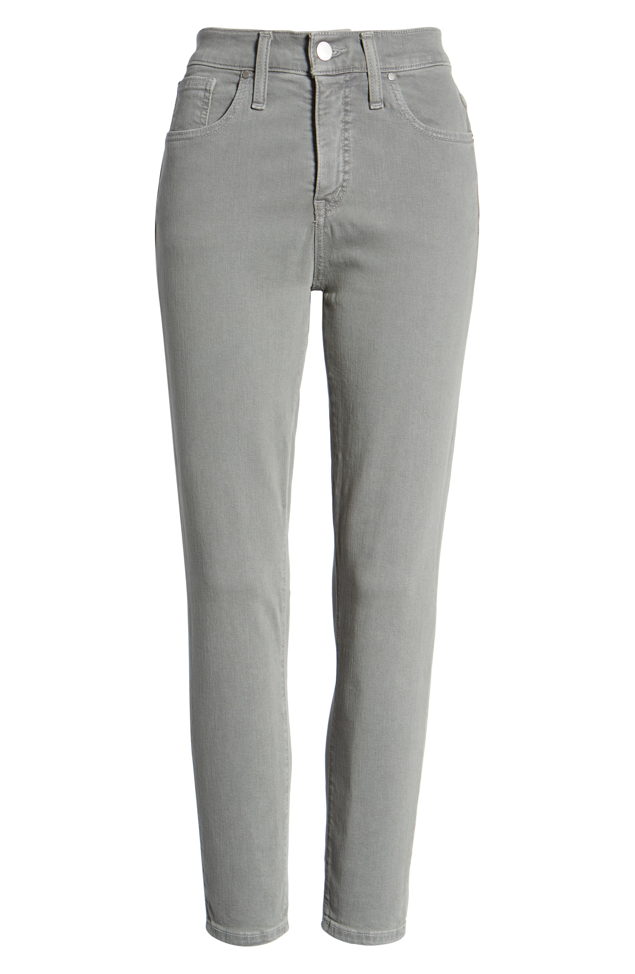 Sierra High Waist Ankle Skinny Pants,                             Alternate thumbnail 7, color,                             GREY