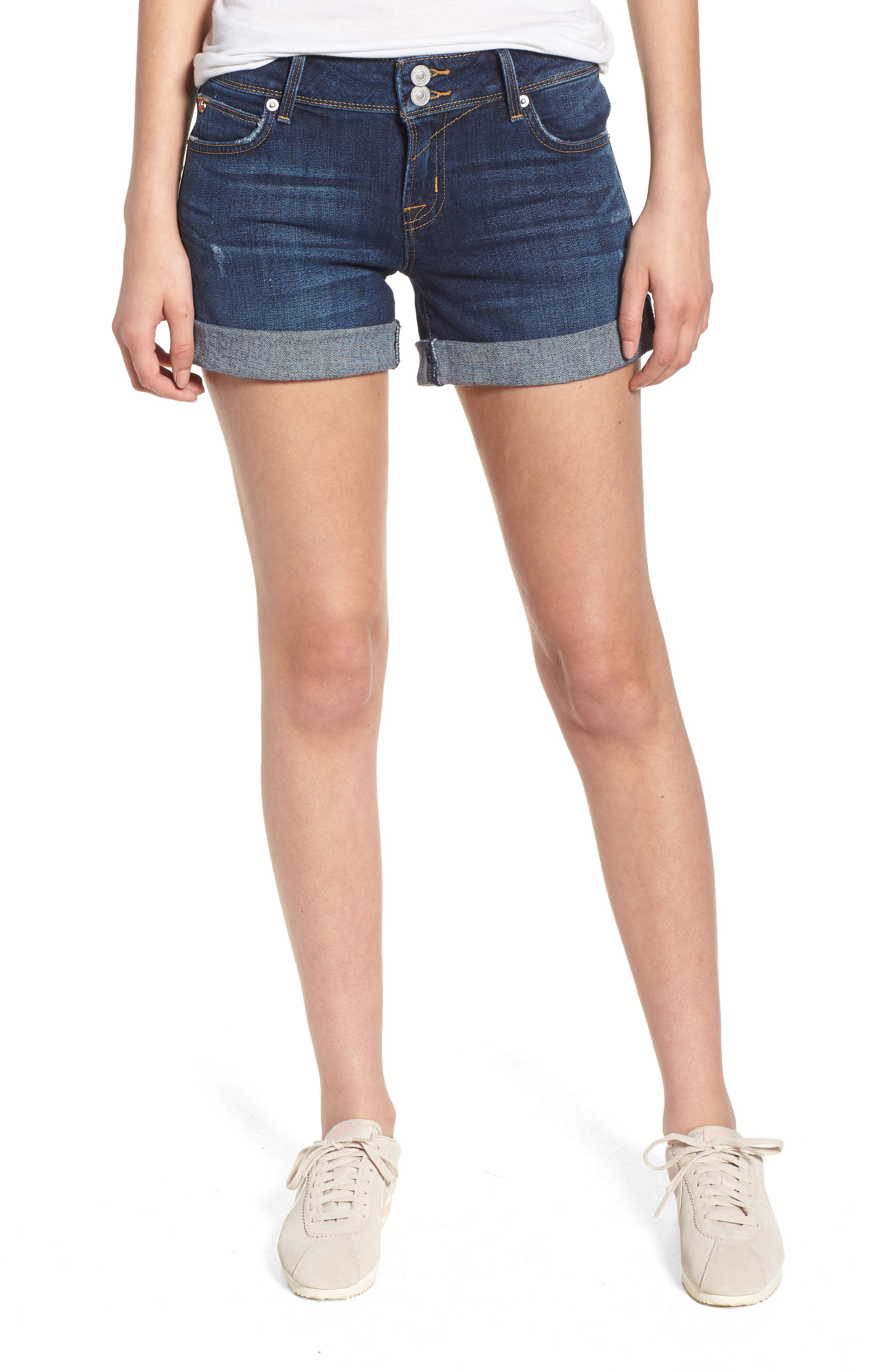 Croxley Cuffed Denim Shorts,                         Main,                         color, 423