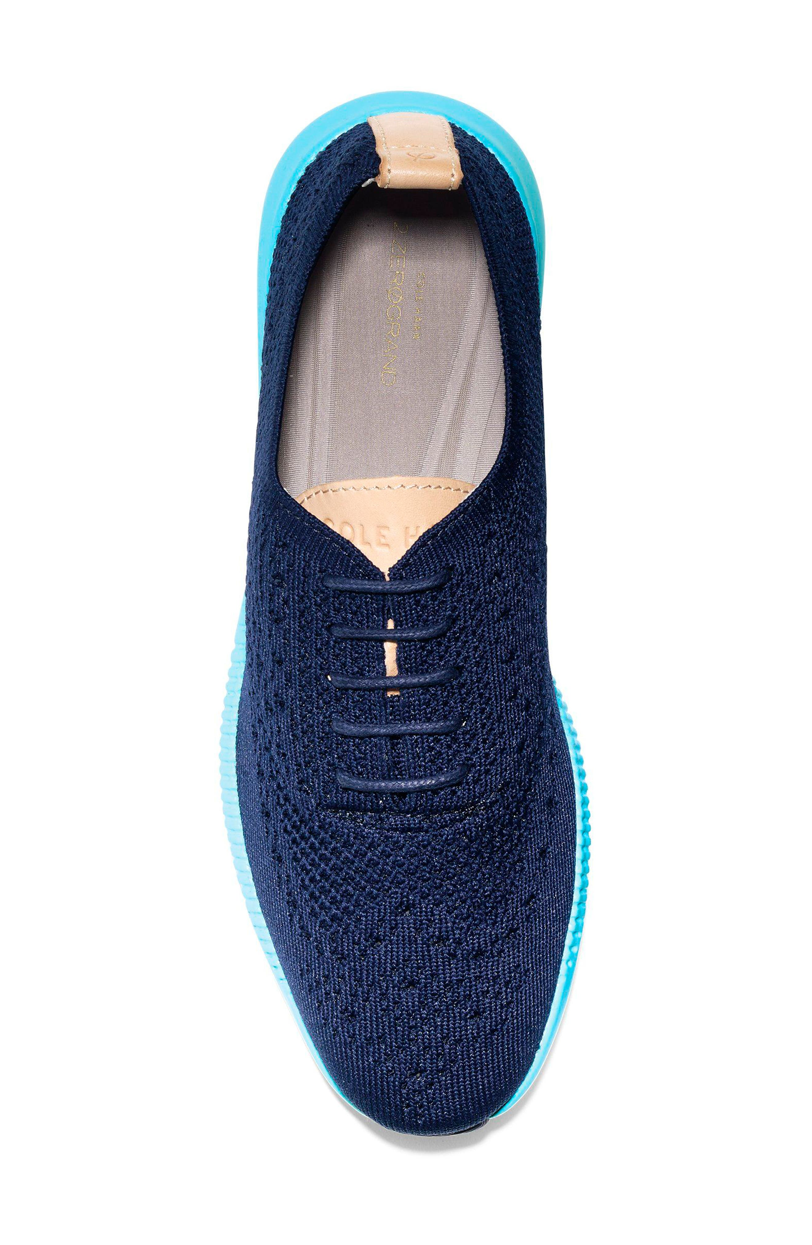 2.ZERØGRAND Stitchlite Wingtip Sneaker,                             Alternate thumbnail 5, color,                             MARINE BLUE/ BLUEFISH FABRIC