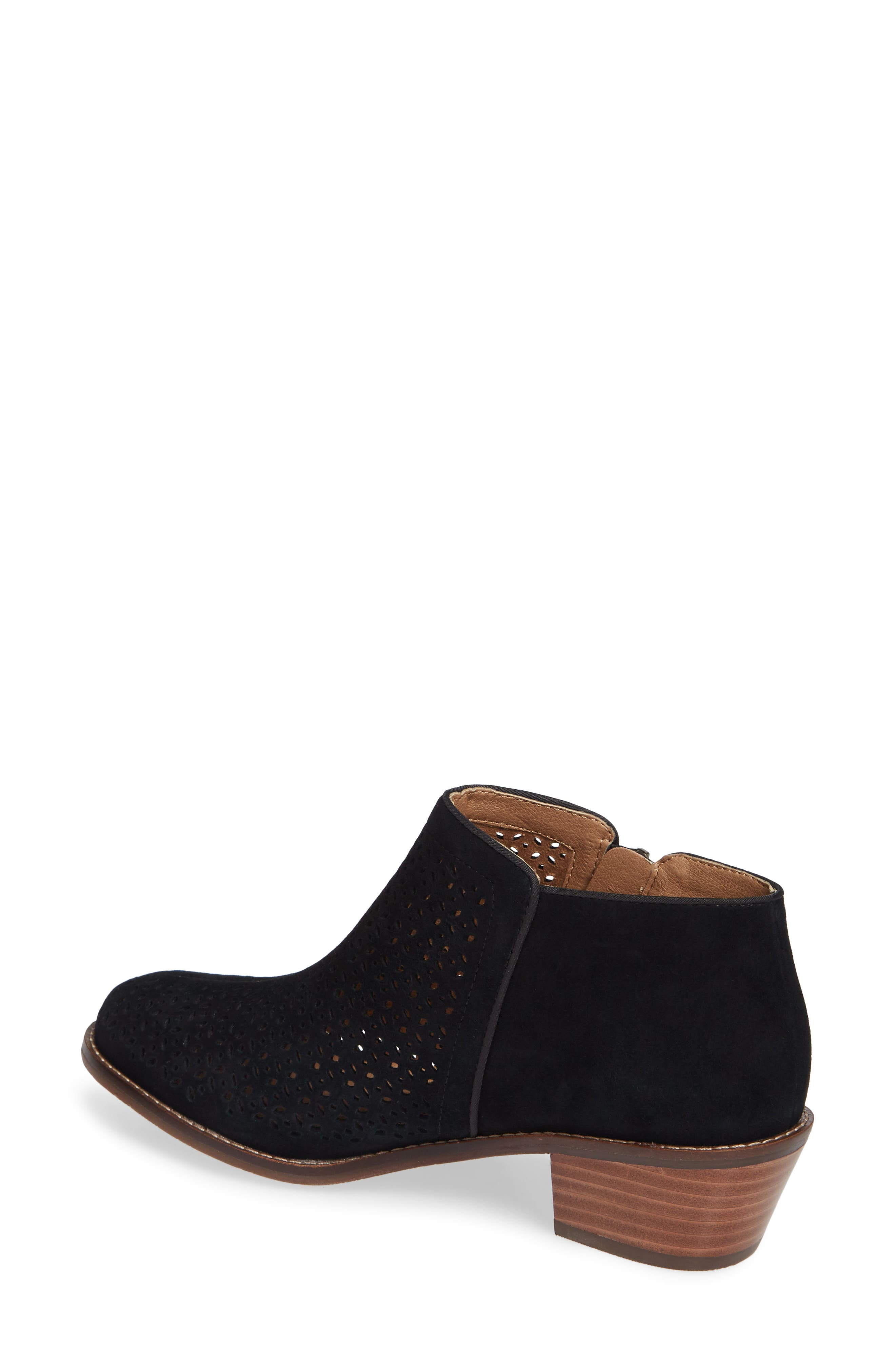 Daytona Perforated Bootie,                             Alternate thumbnail 2, color,                             BLACK SUEDE