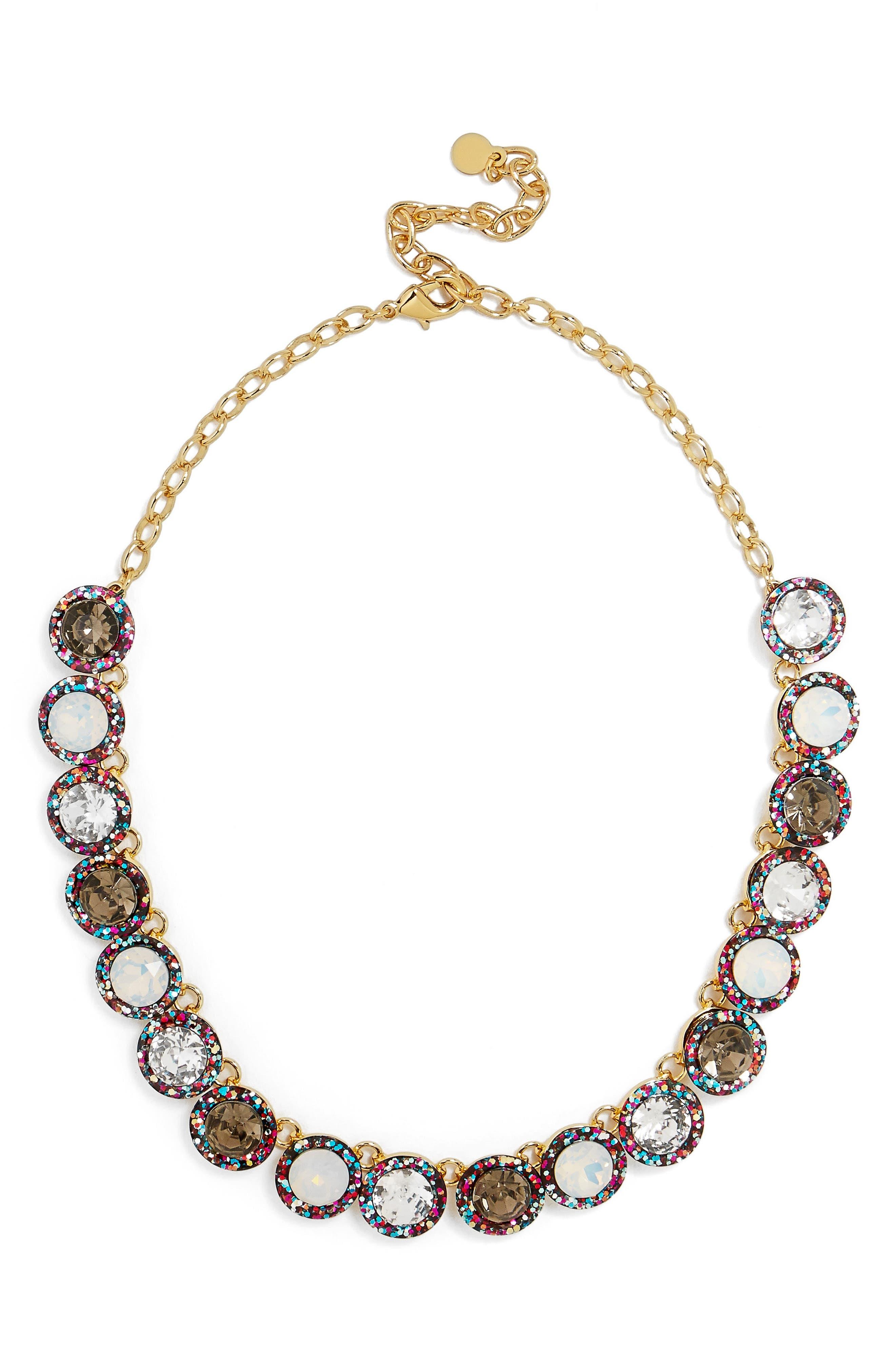 Jewel Collar Necklace,                             Alternate thumbnail 5, color,                             001
