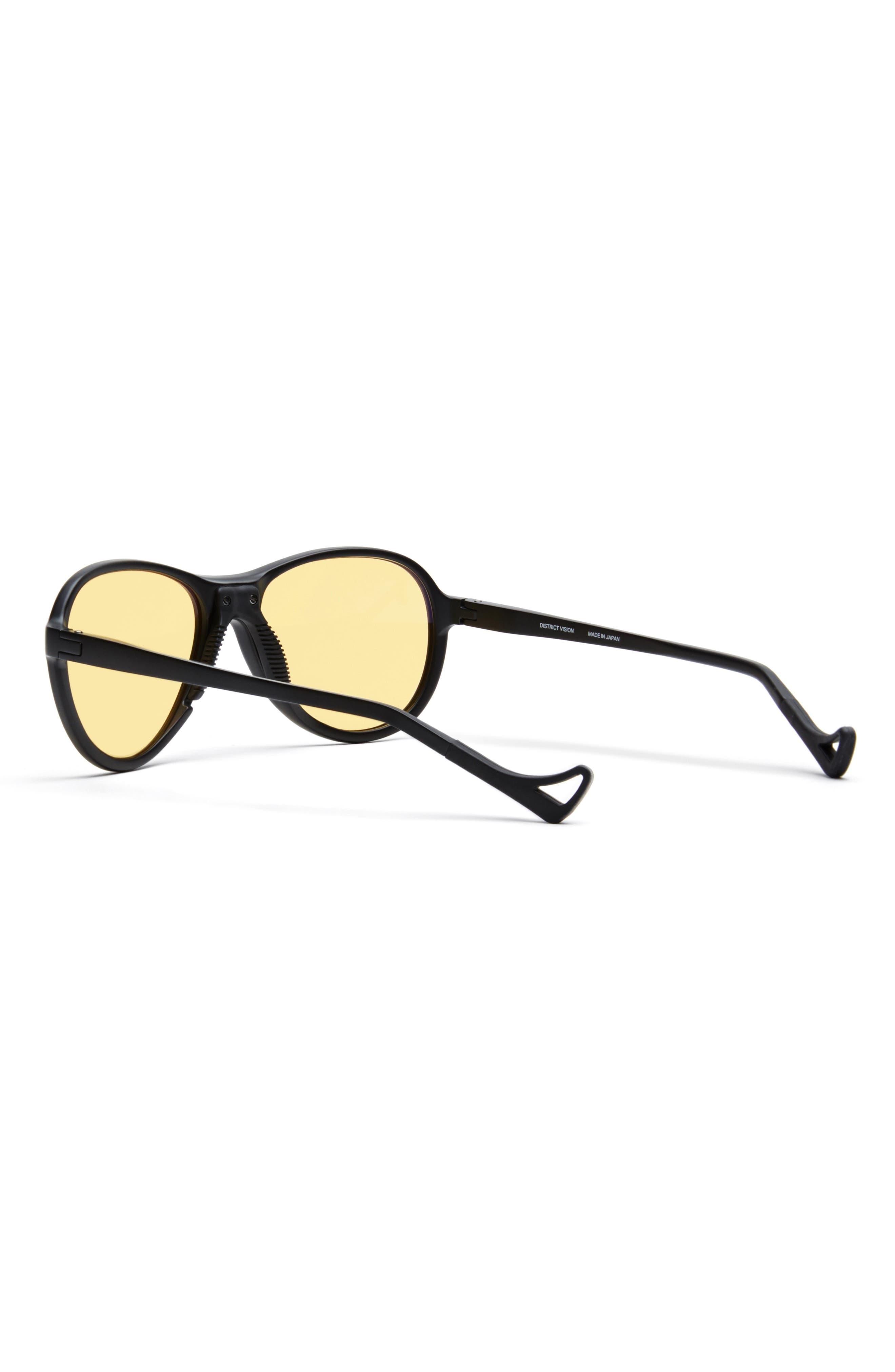 Kaishiro 51mm Sunglasses,                             Alternate thumbnail 3, color,                             BLACK/ YELLOW