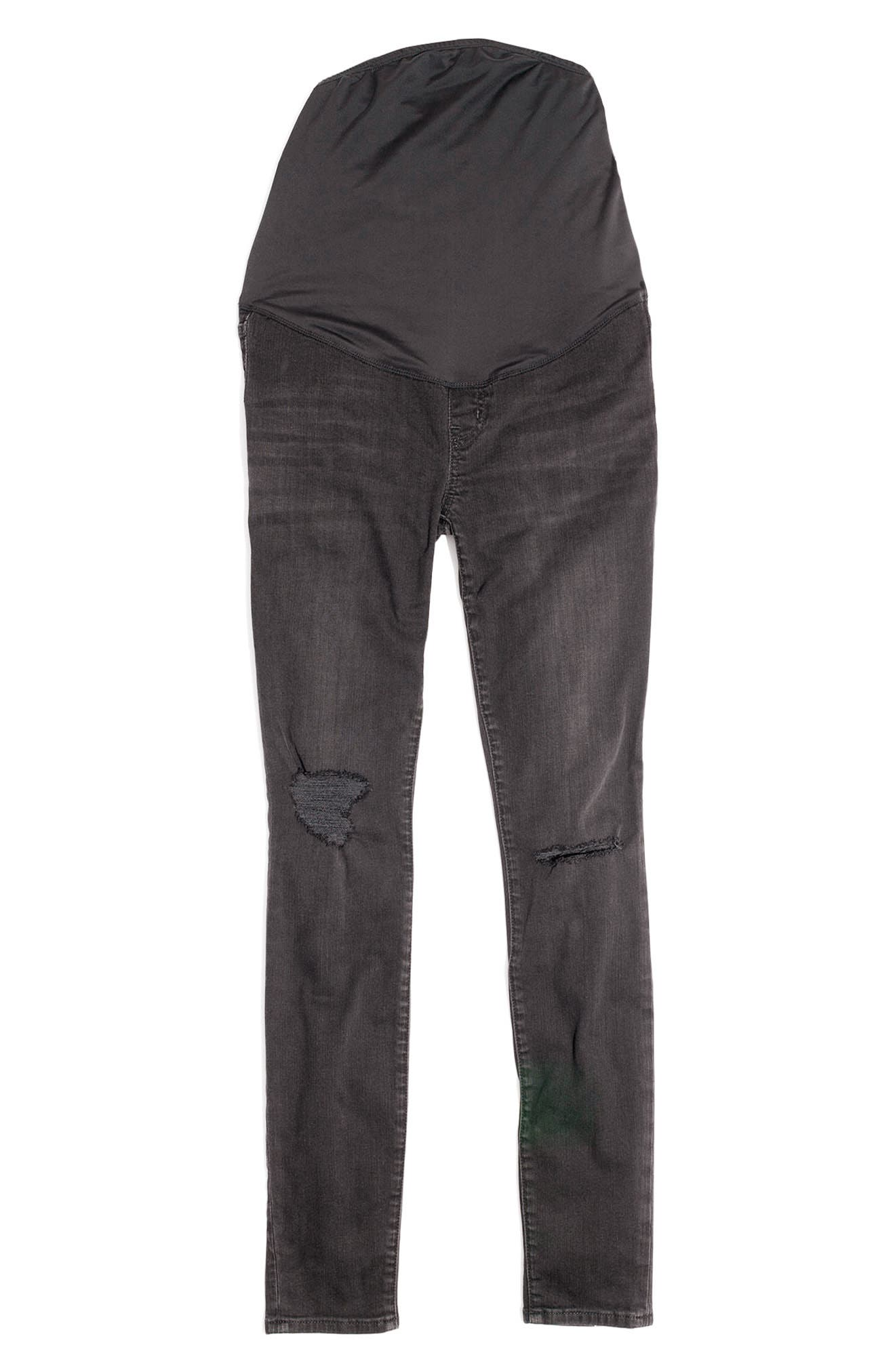 Maternity Skinny Jeans,                             Alternate thumbnail 6, color,                             009
