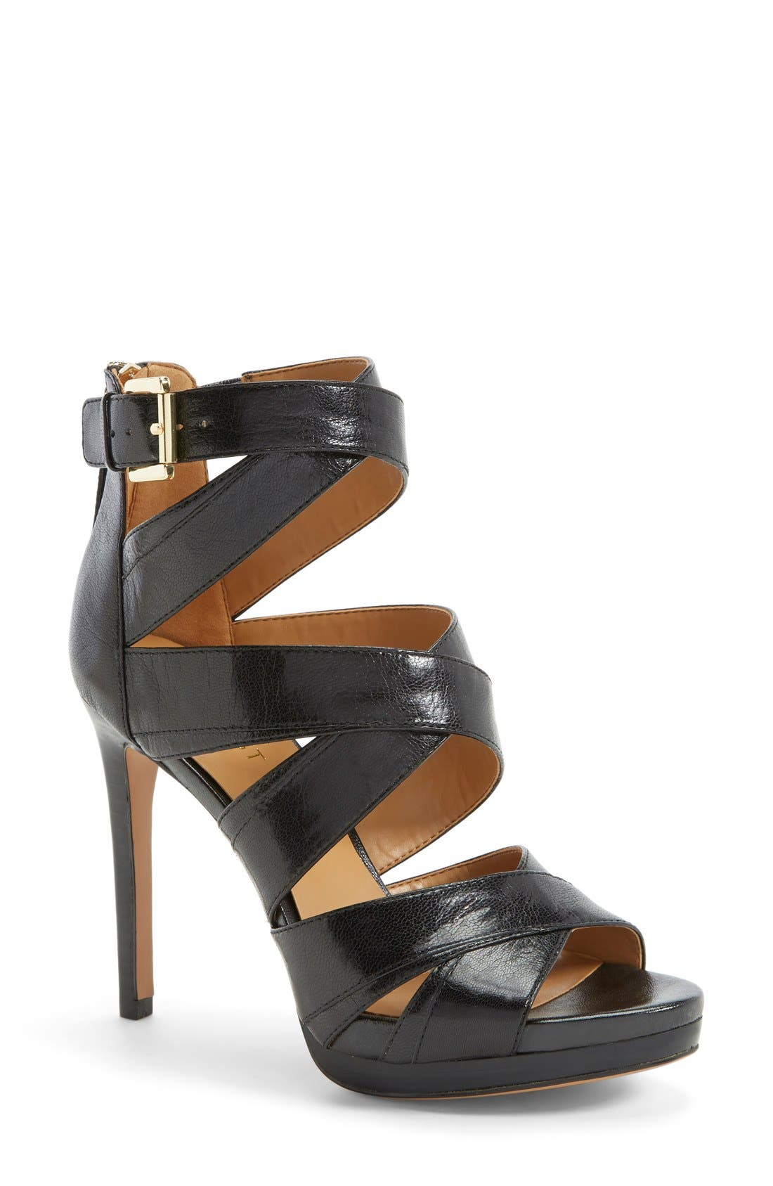 'Bonjorno' Platform Sandal,                             Main thumbnail 1, color,                             001