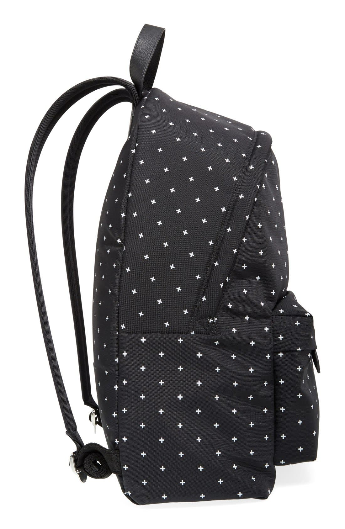 Canvas Backpack,                             Alternate thumbnail 6, color,                             BLACK