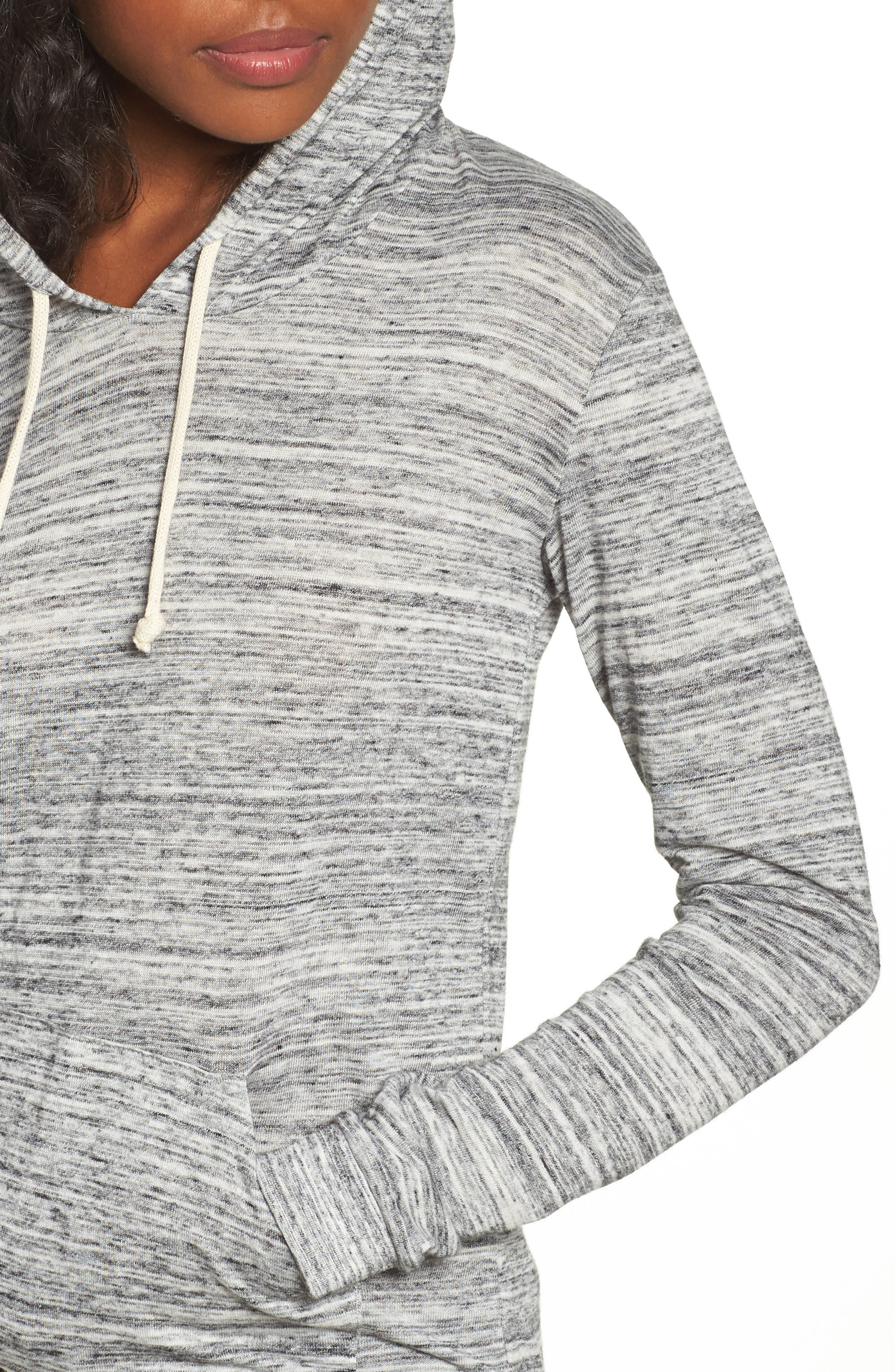 Mottled Pullover Hoodie,                             Alternate thumbnail 4, color,                             061