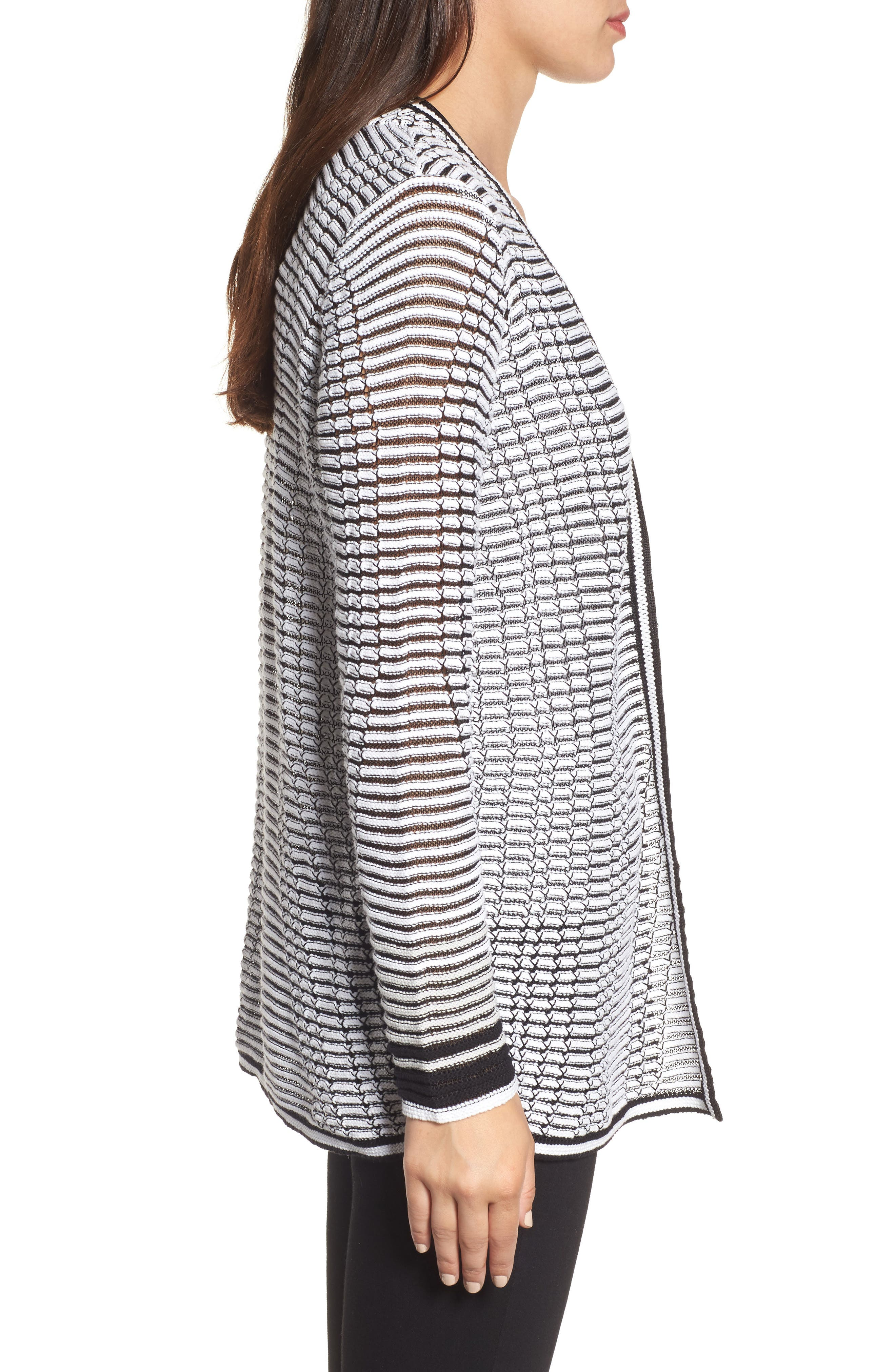Striped Space Cardigan,                             Alternate thumbnail 3, color,                             055