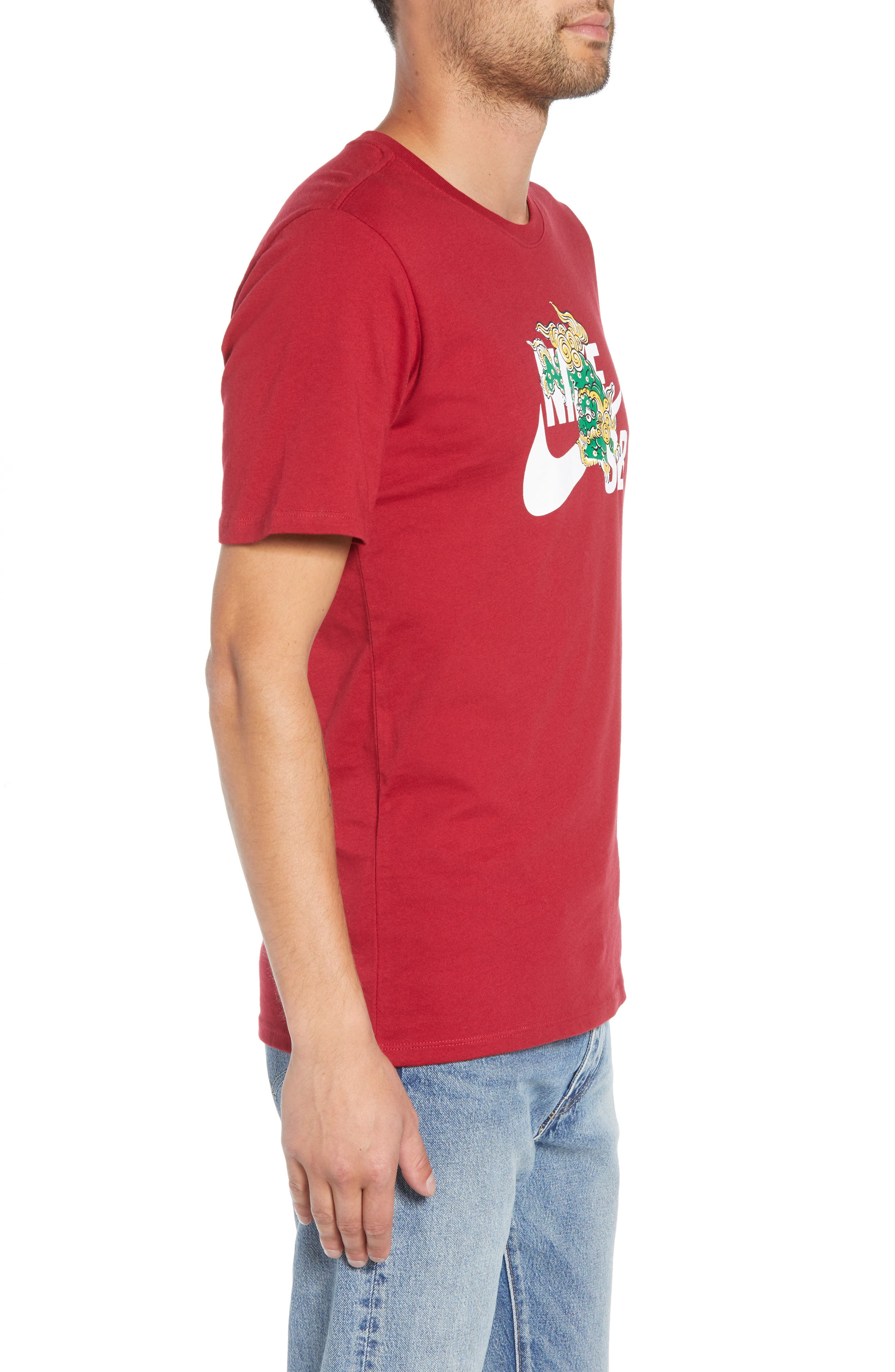 Year of the Dog T-Shirt,                             Alternate thumbnail 3, color,                             RED CRUSH
