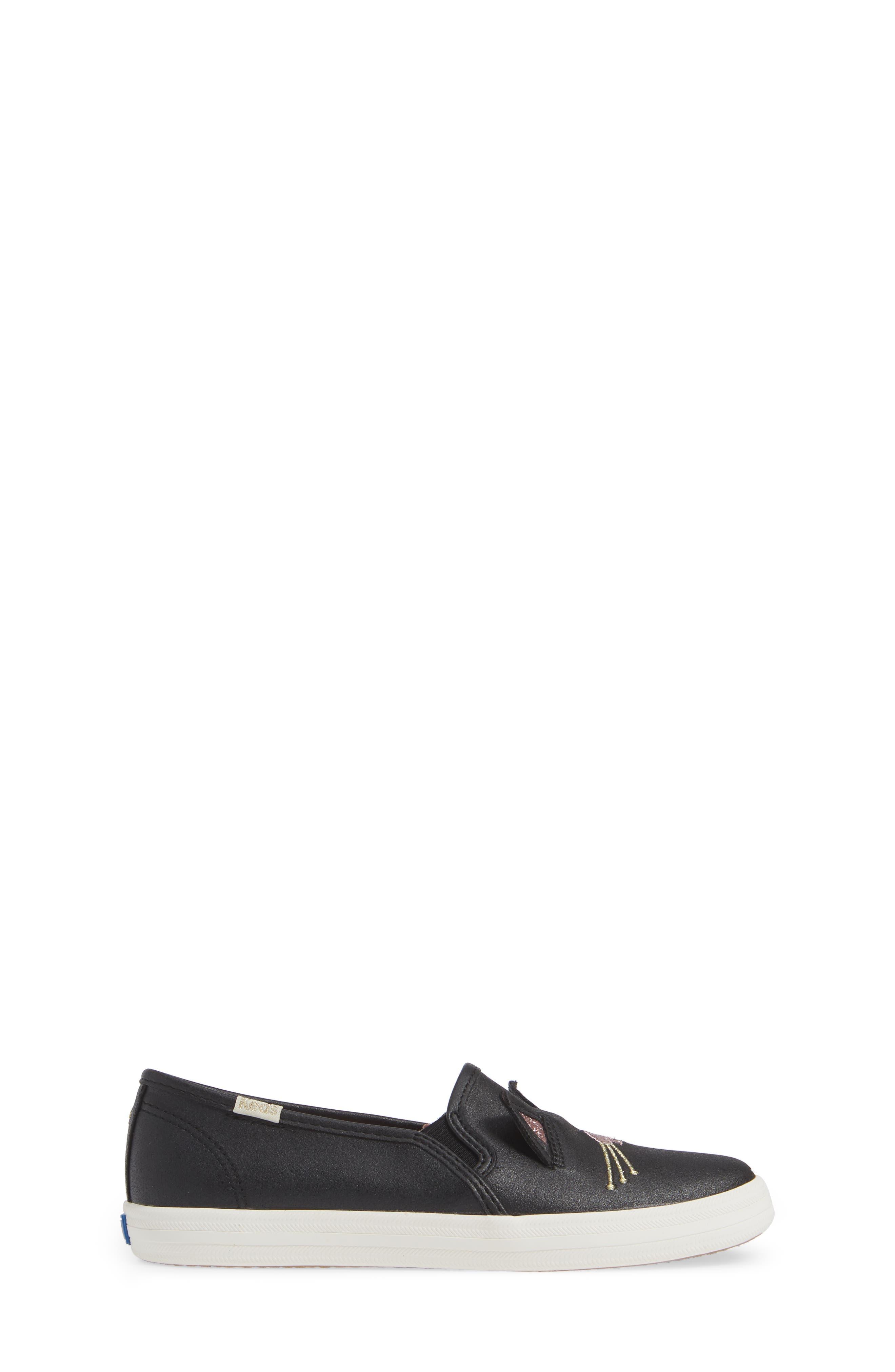 x kate spade new york Double Decker Sneaker,                             Alternate thumbnail 3, color,                             HAYDEN CAT