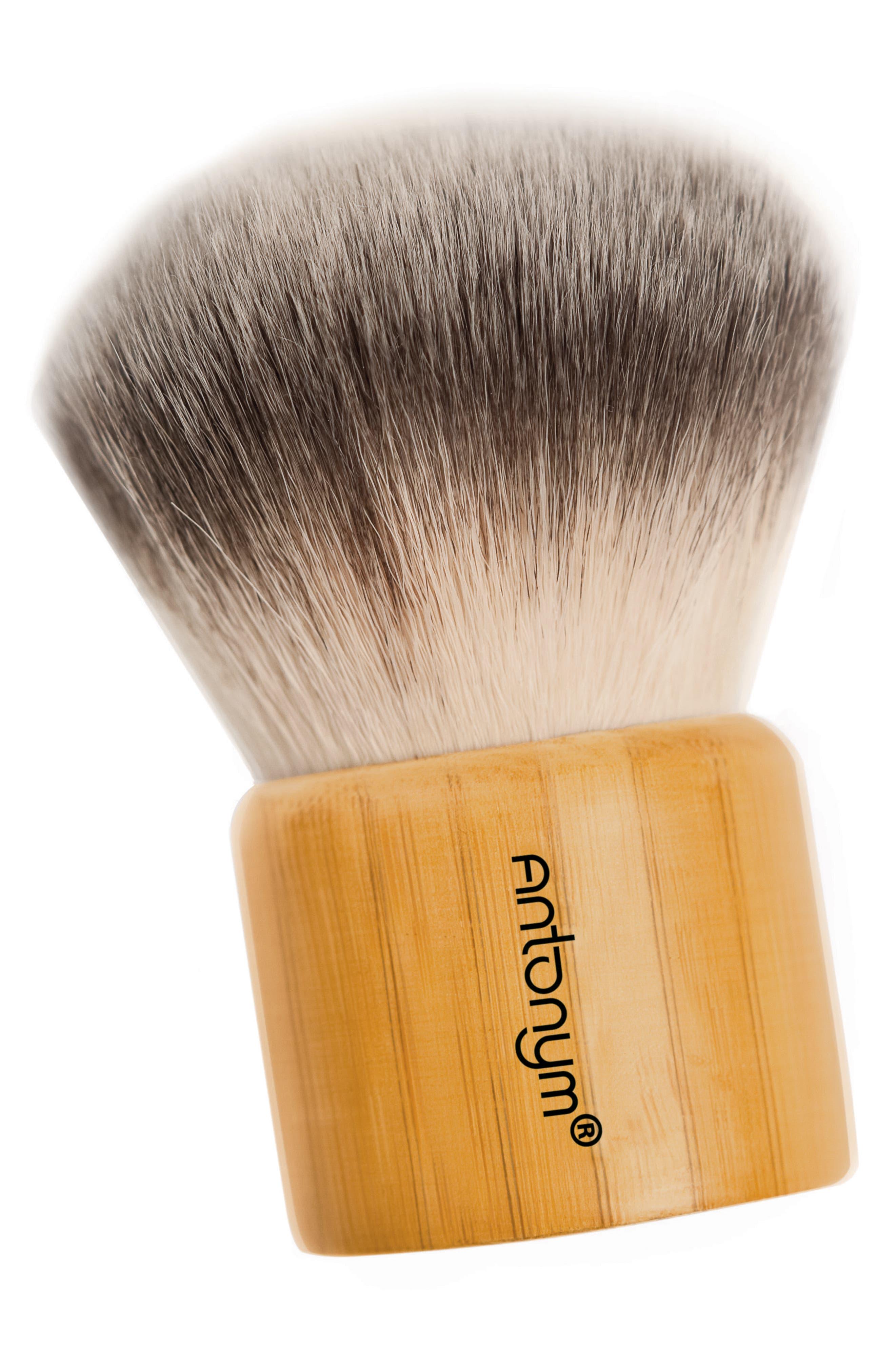 Kabuki Brush & Pouch,                             Main thumbnail 1, color,                             NO COLOR