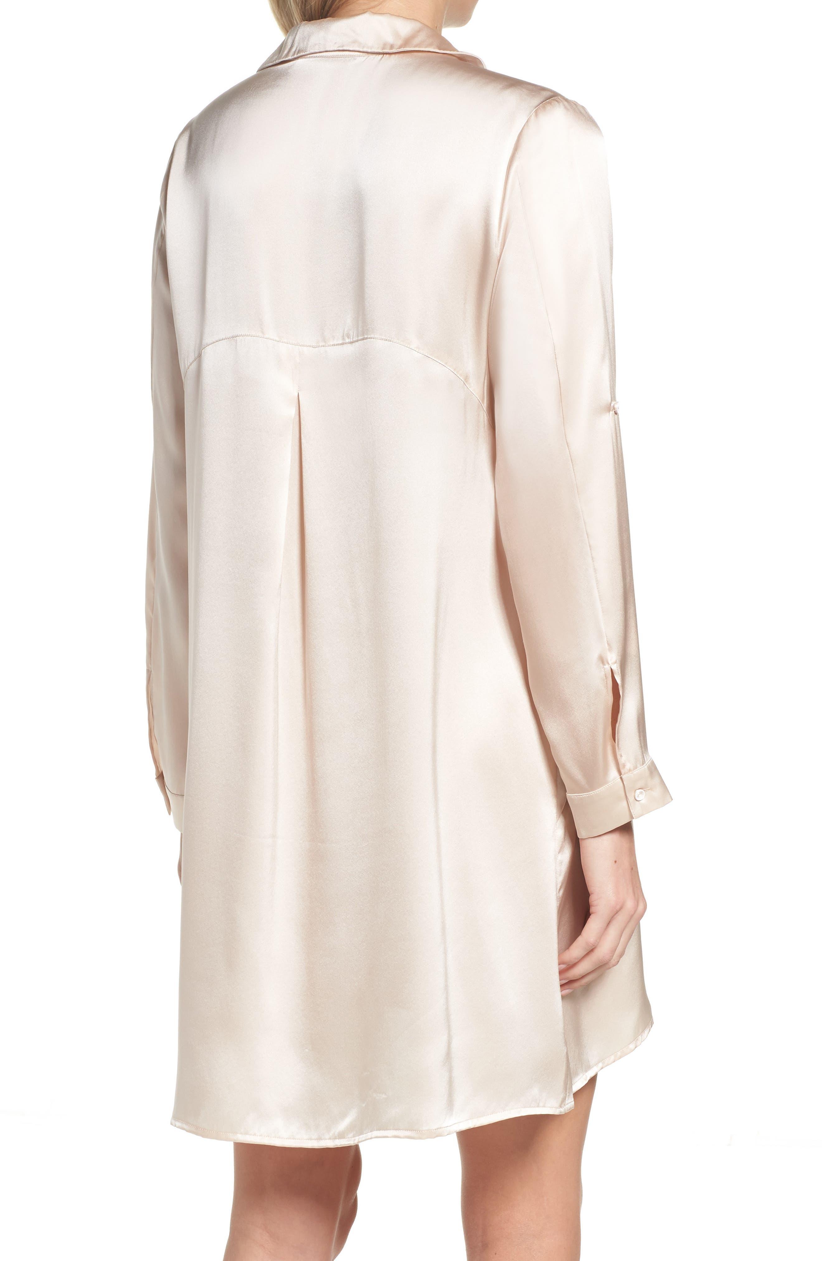 Silk Sleep Shirt,                             Alternate thumbnail 2, color,                             900