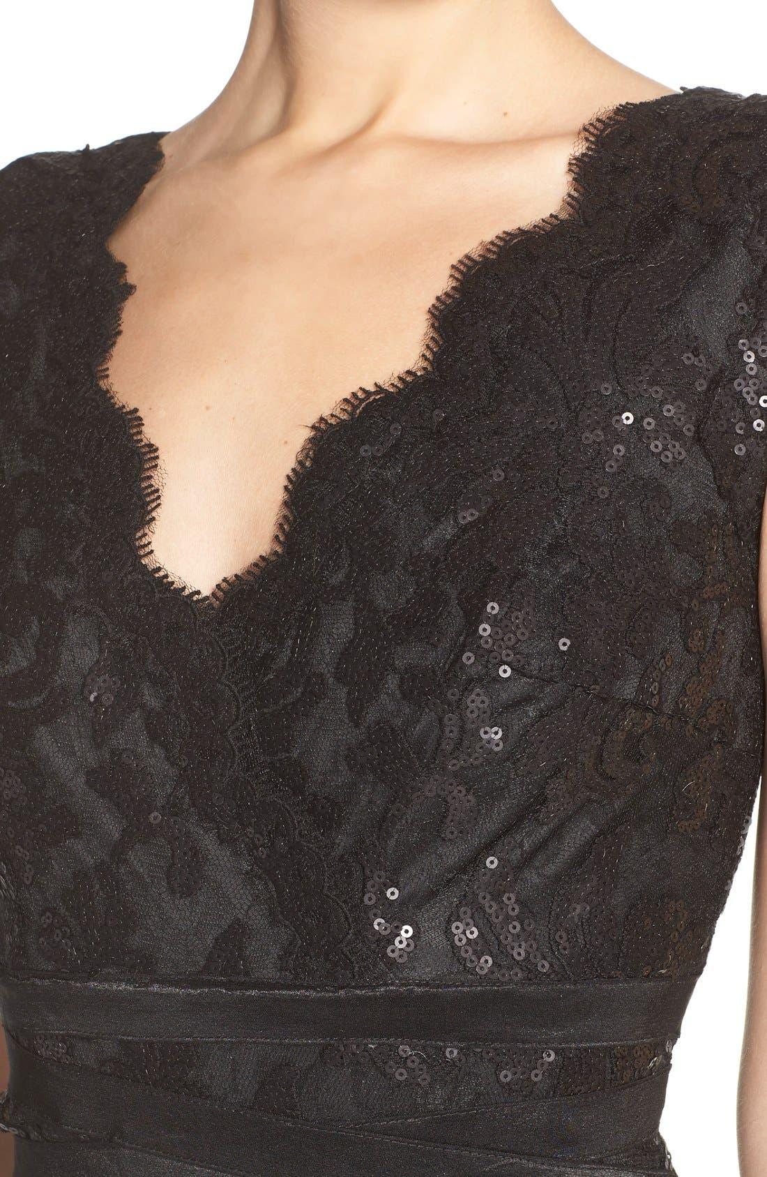 Sequin Lace Sheath Dress,                             Alternate thumbnail 2, color,                             001