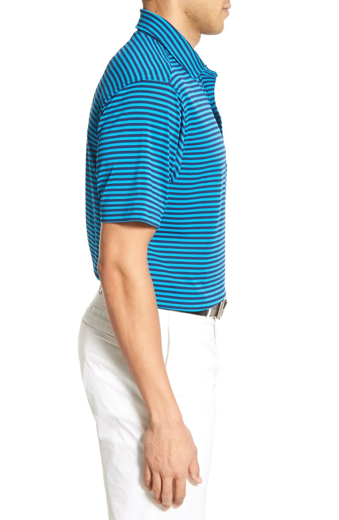 XH2O Feed Stripe Stretch Golf Polo,                             Alternate thumbnail 47, color,