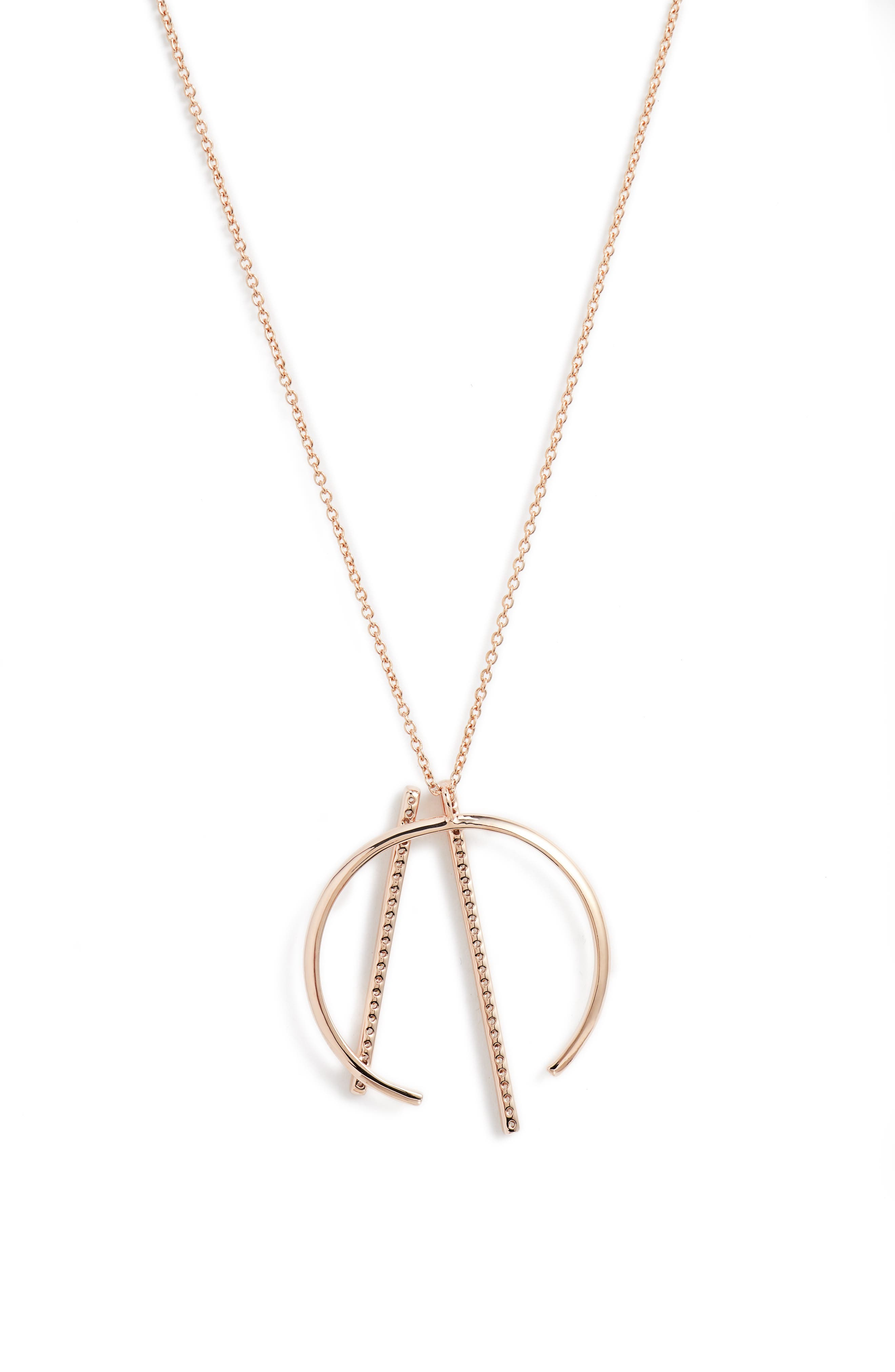 Neo Geo Pendant Necklace,                             Alternate thumbnail 2, color,                             ROSE GOLD