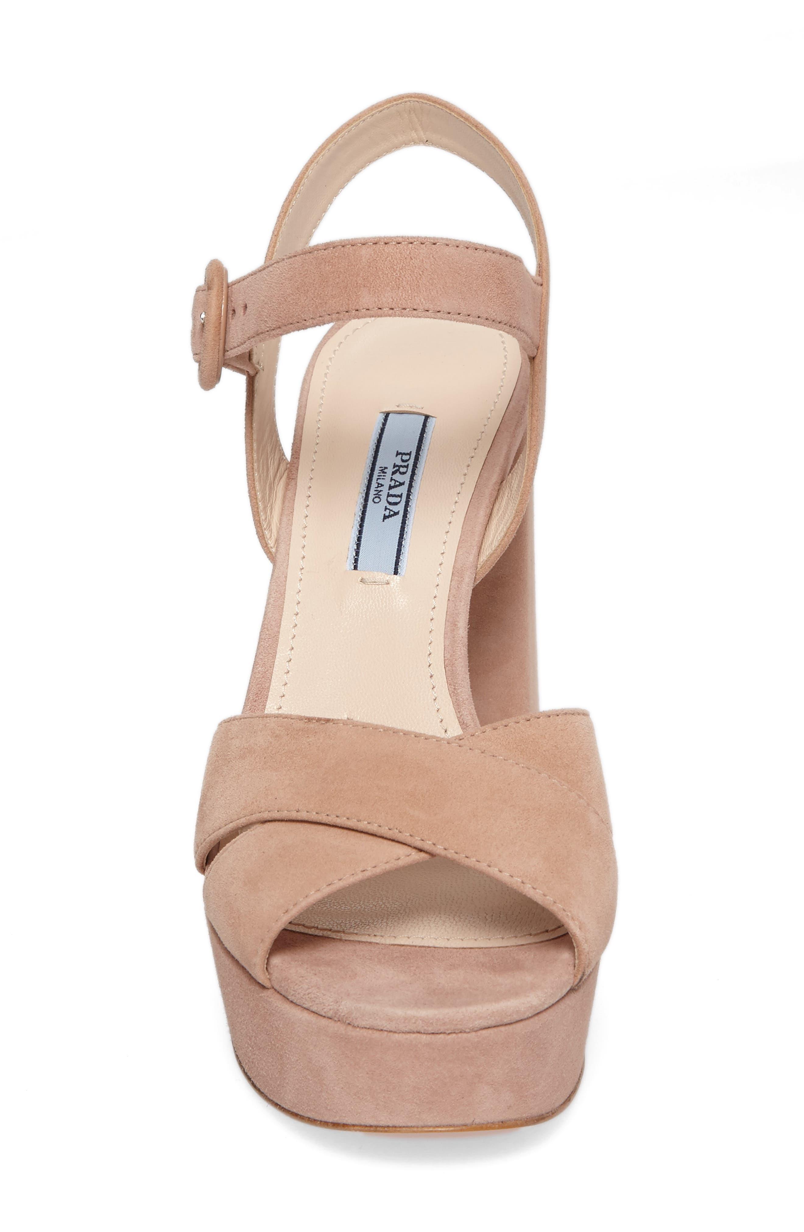 Block Heel Platform Sandal,                             Alternate thumbnail 4, color,                             250