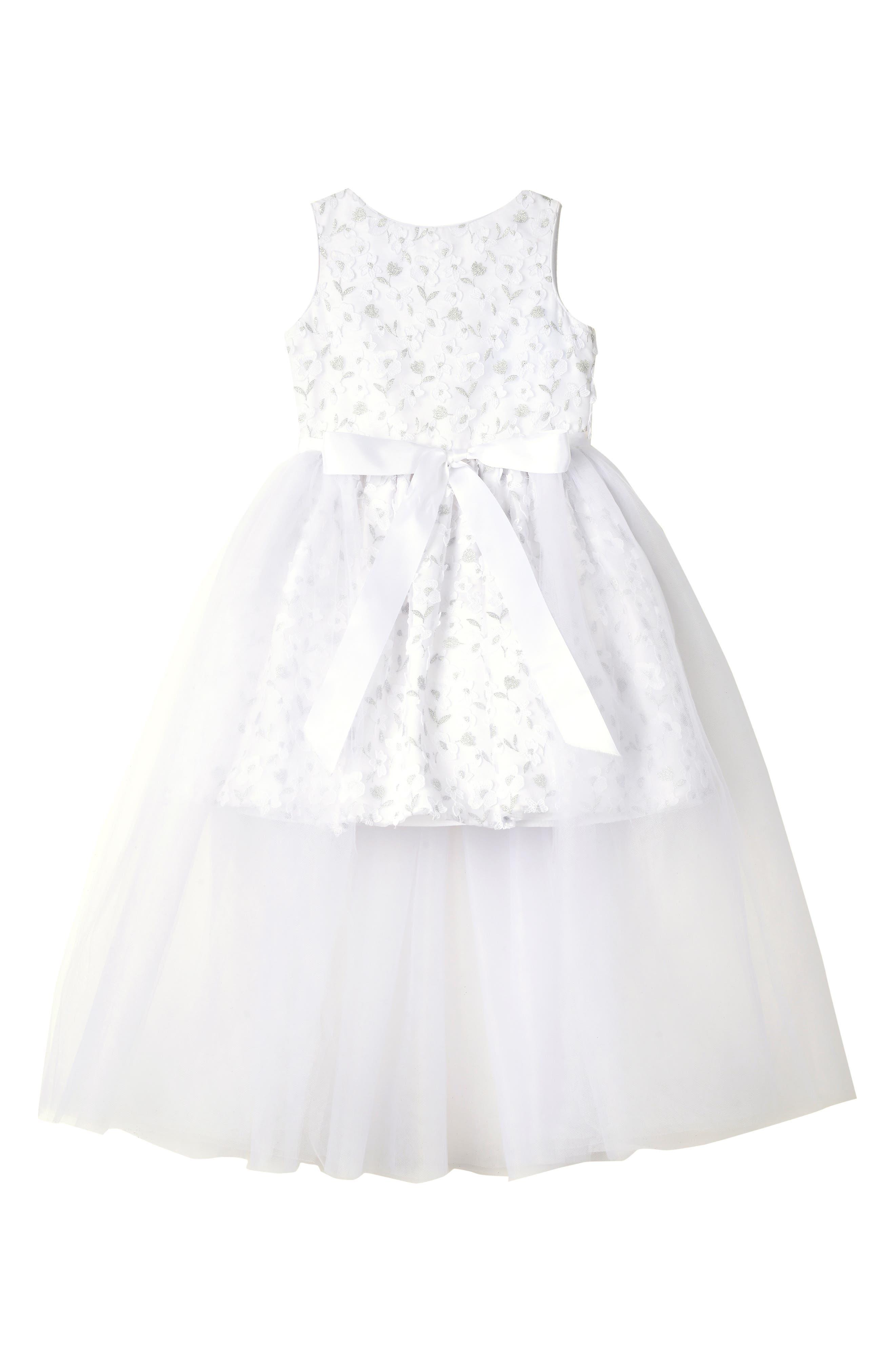 Girls Badgley Mischka 3D Flower Dress