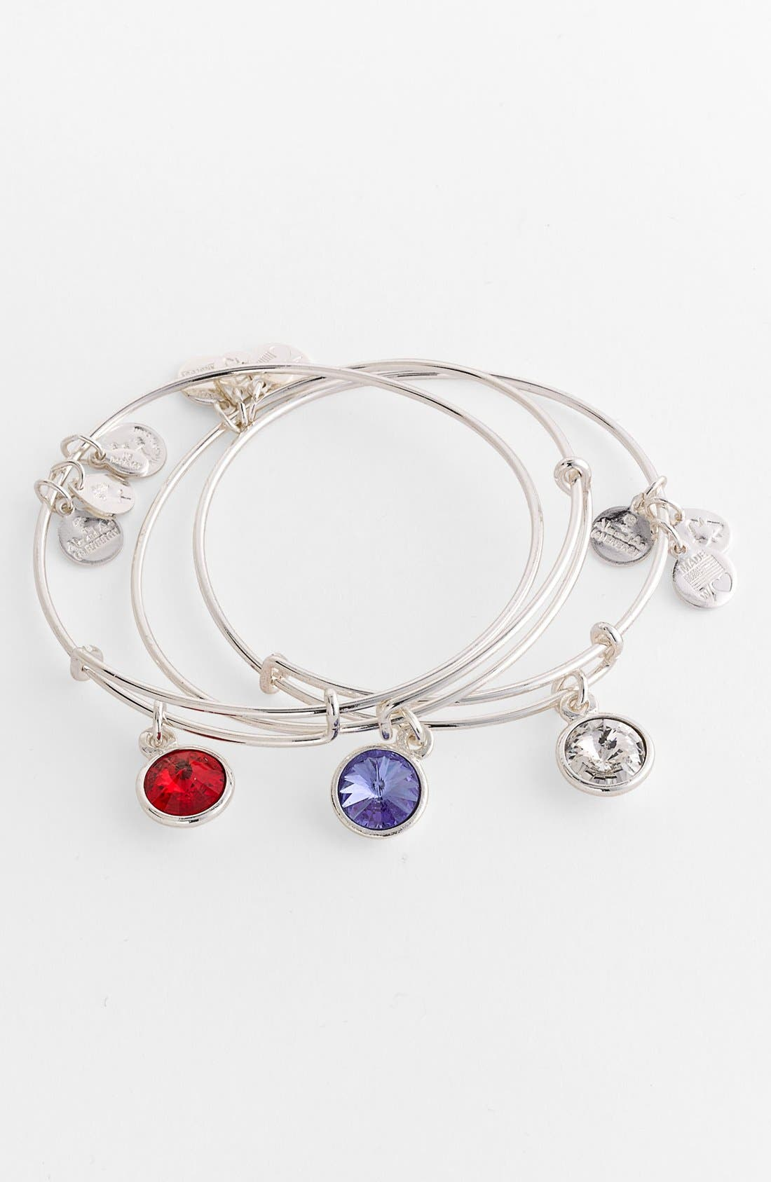 ALEX AND ANI,                             Birthstone Expandable Wire Bangle,                             Alternate thumbnail 4, color,                             100
