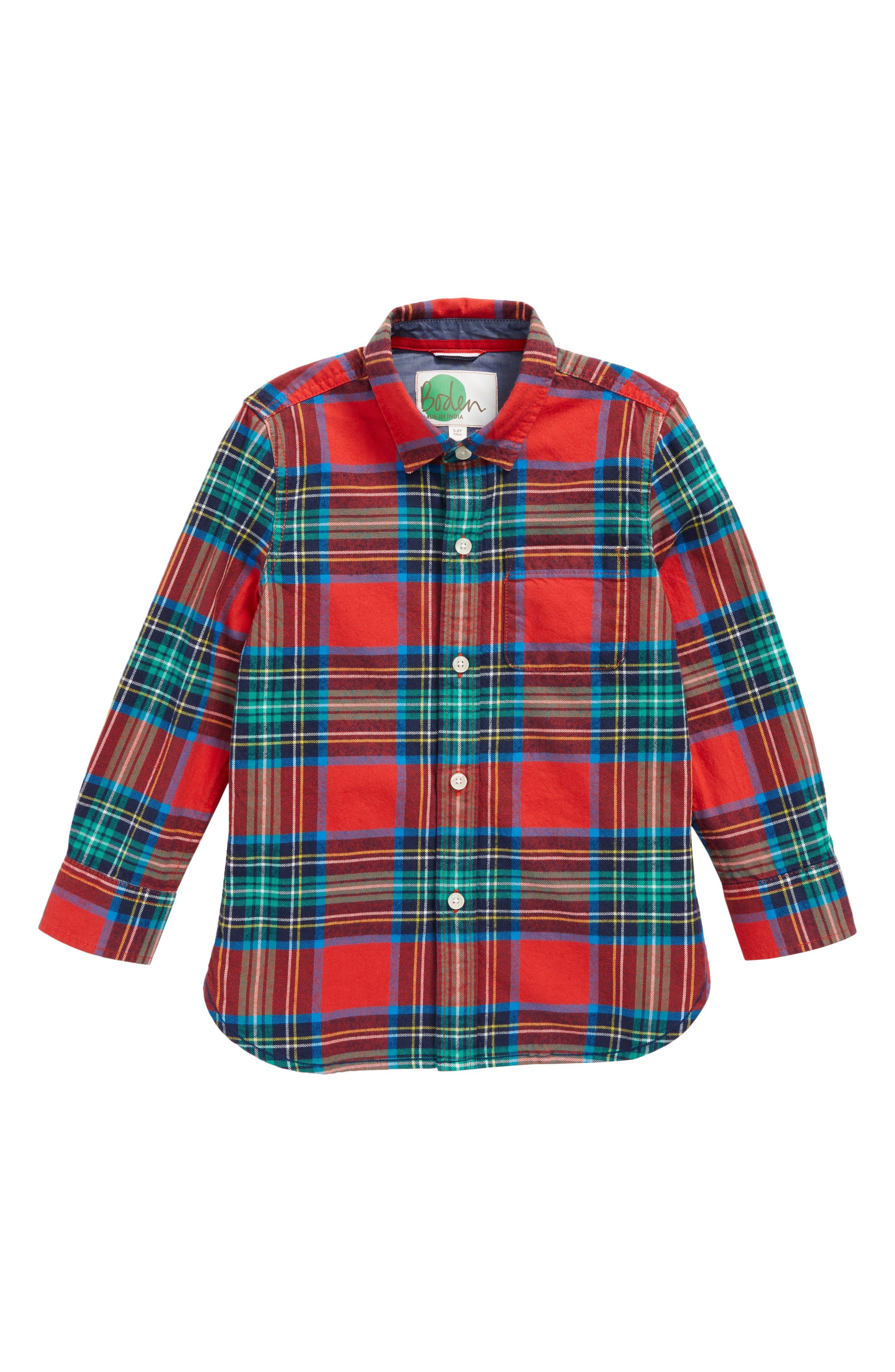 Cozy Festive Plaid Shirt,                             Main thumbnail 1, color,                             614