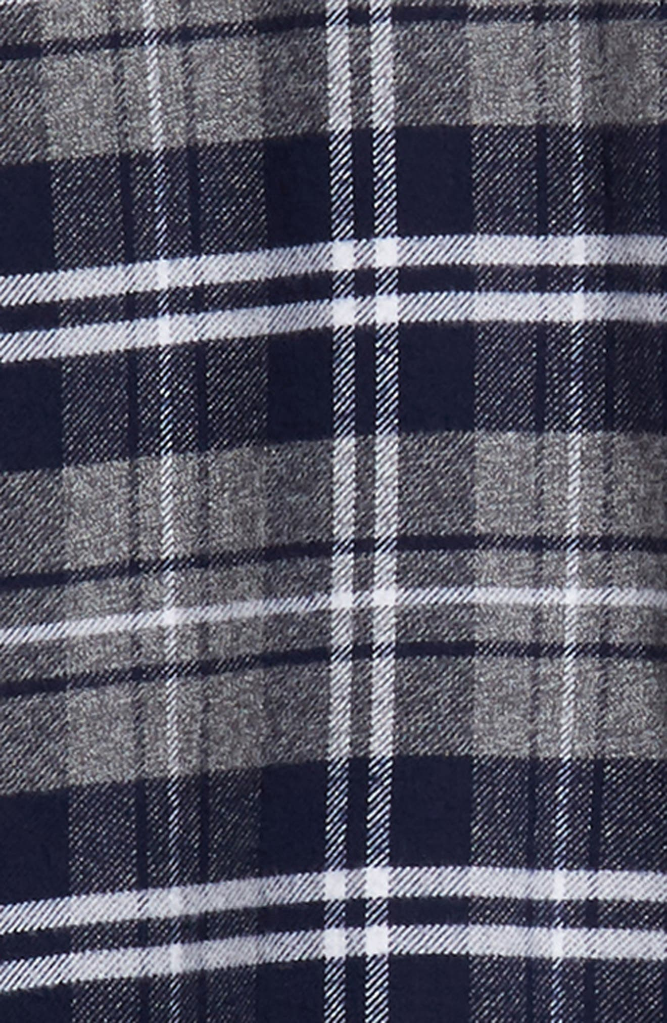 Forrest Slim Fit Plaid Flannel Sport Shirt,                             Alternate thumbnail 6, color,                             NAVY/LIGHT GREY/WHITE