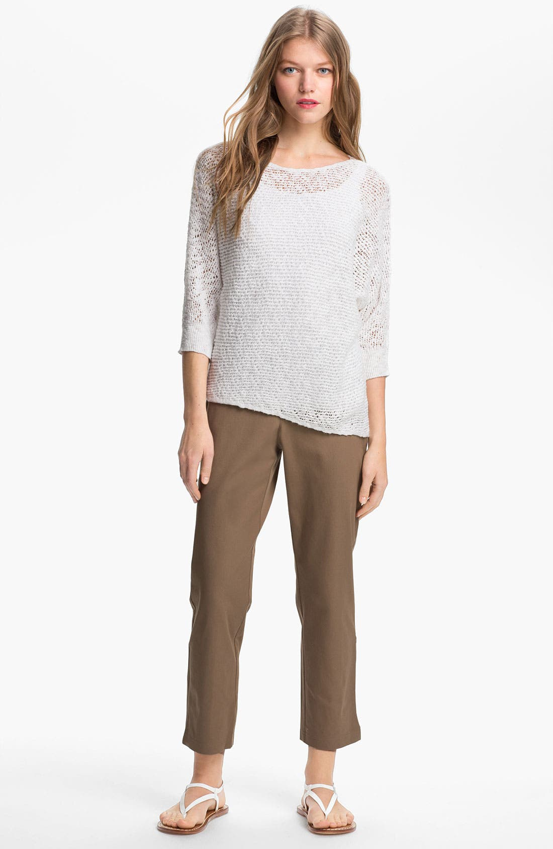 Organic Stretch Cotton Twill Ankle Pants,                             Alternate thumbnail 31, color,