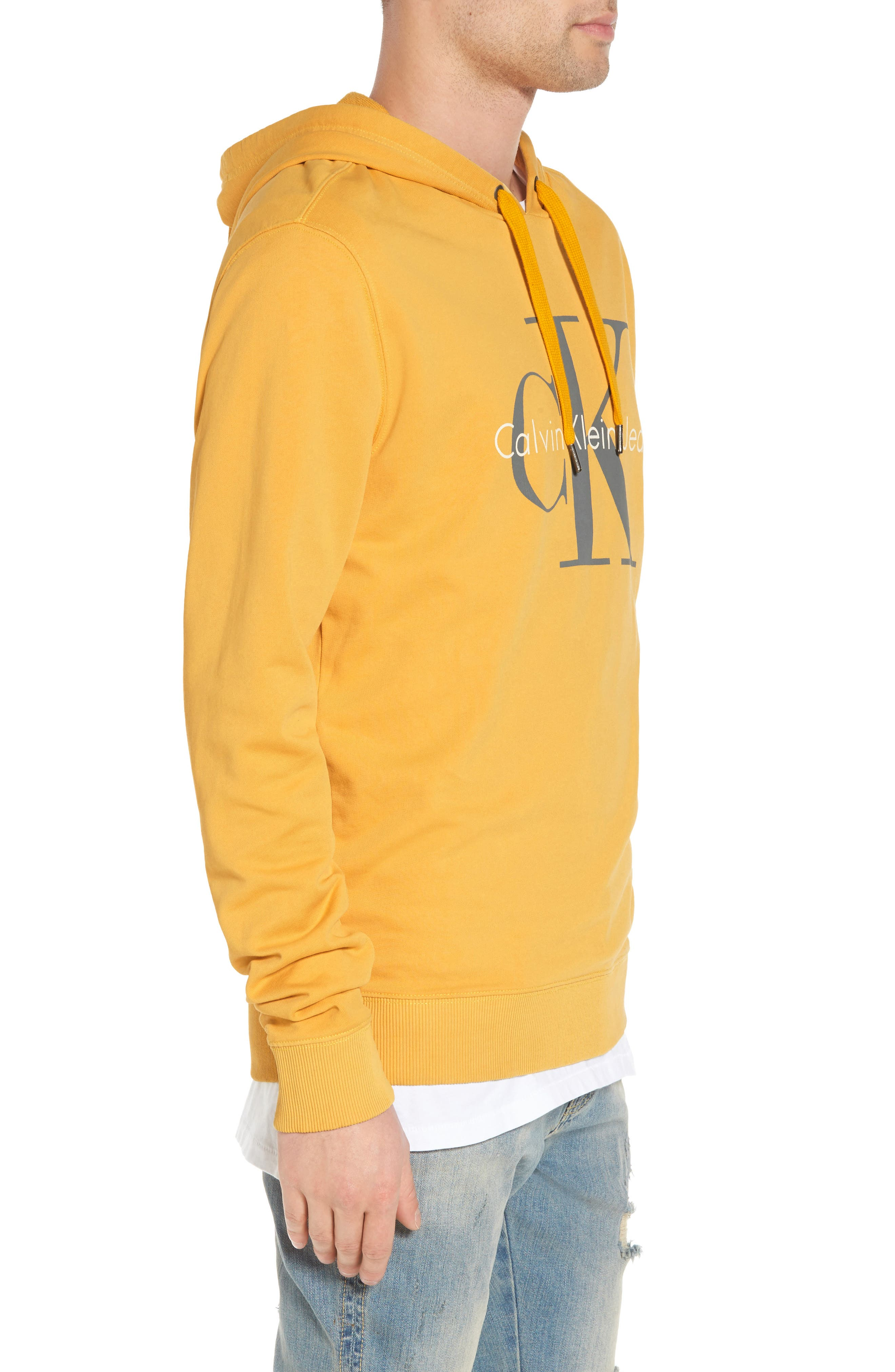 Pop Color Hoodie,                             Alternate thumbnail 3, color,                             SPECTRA YELLOW