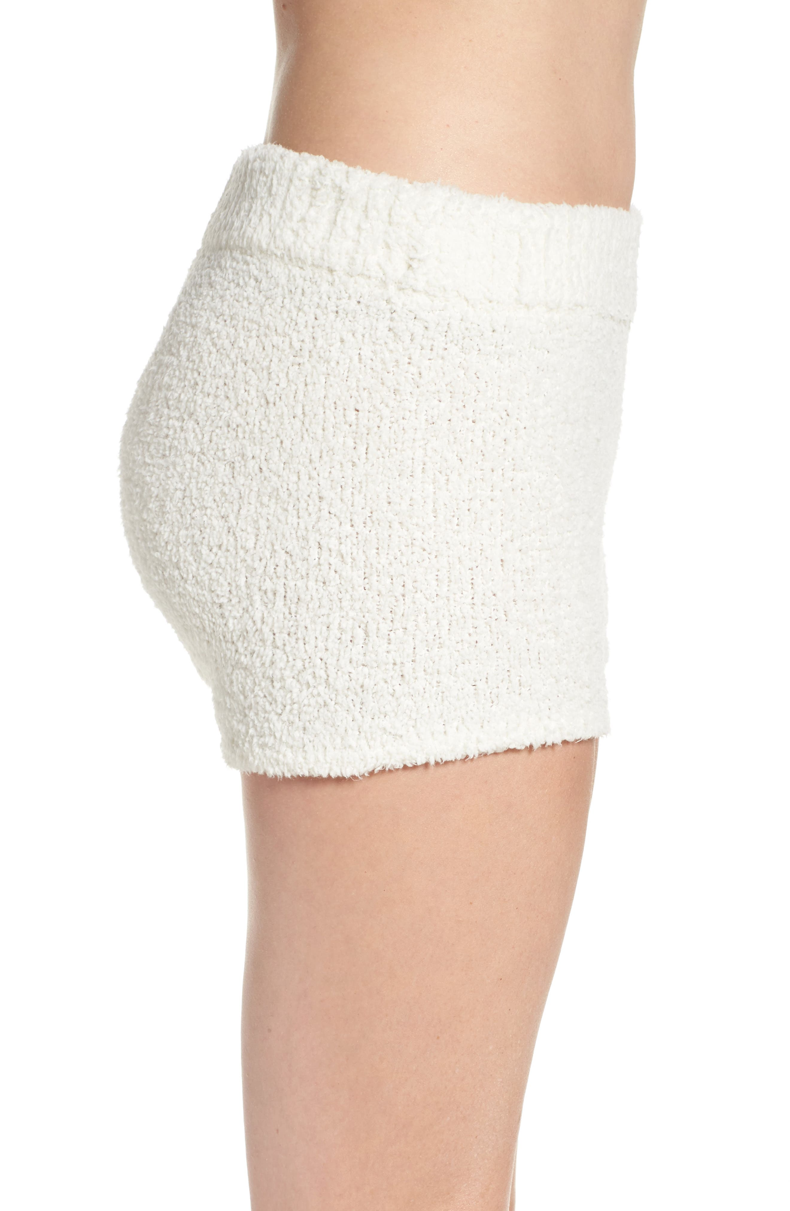 Sweater Knit Pajama Shorts,                             Alternate thumbnail 3, color,                             900