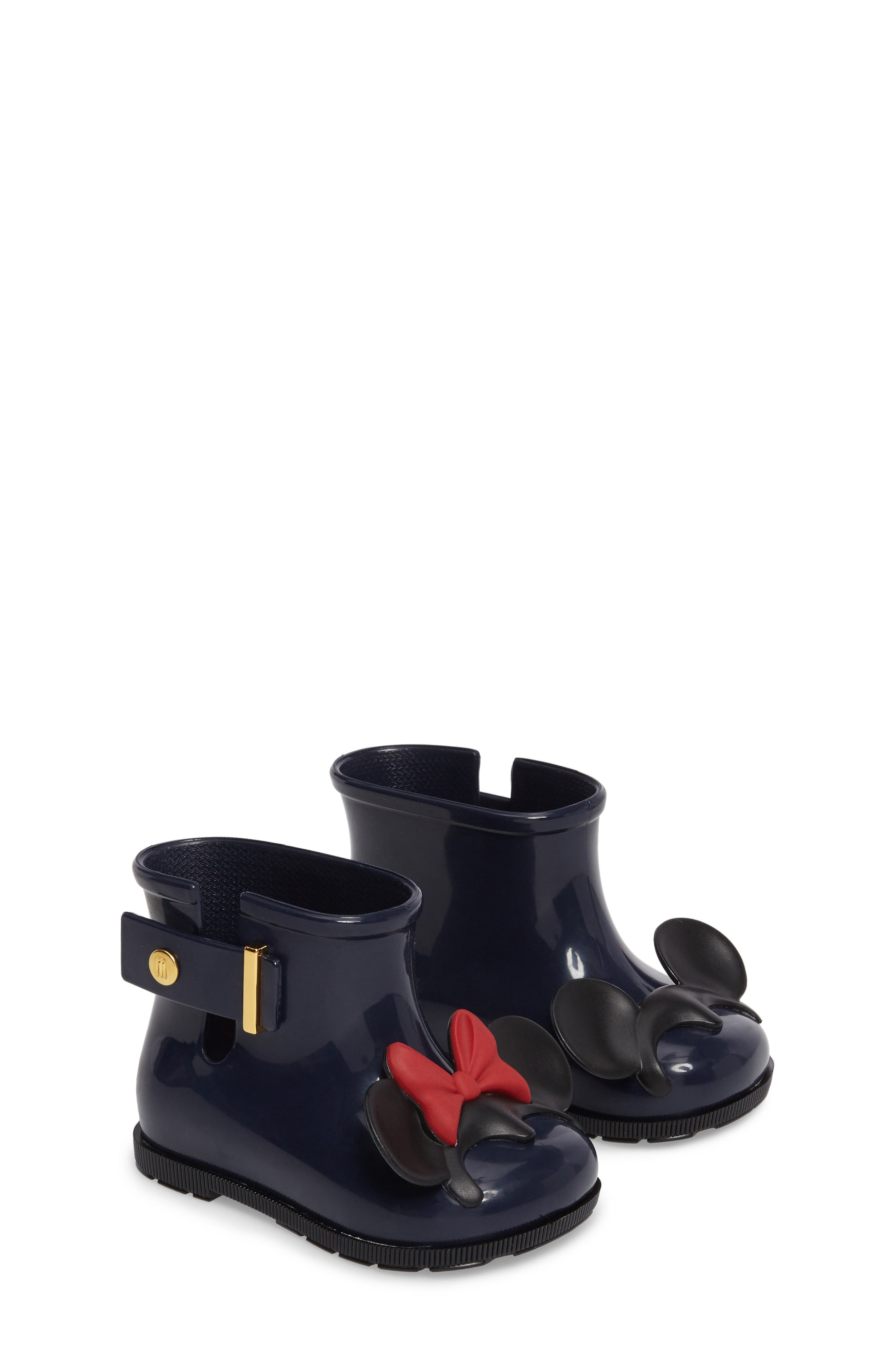 MELISSA Mini Melissa Sugar Rain Disney Twins Waterproof Bootie, Main, color, 452
