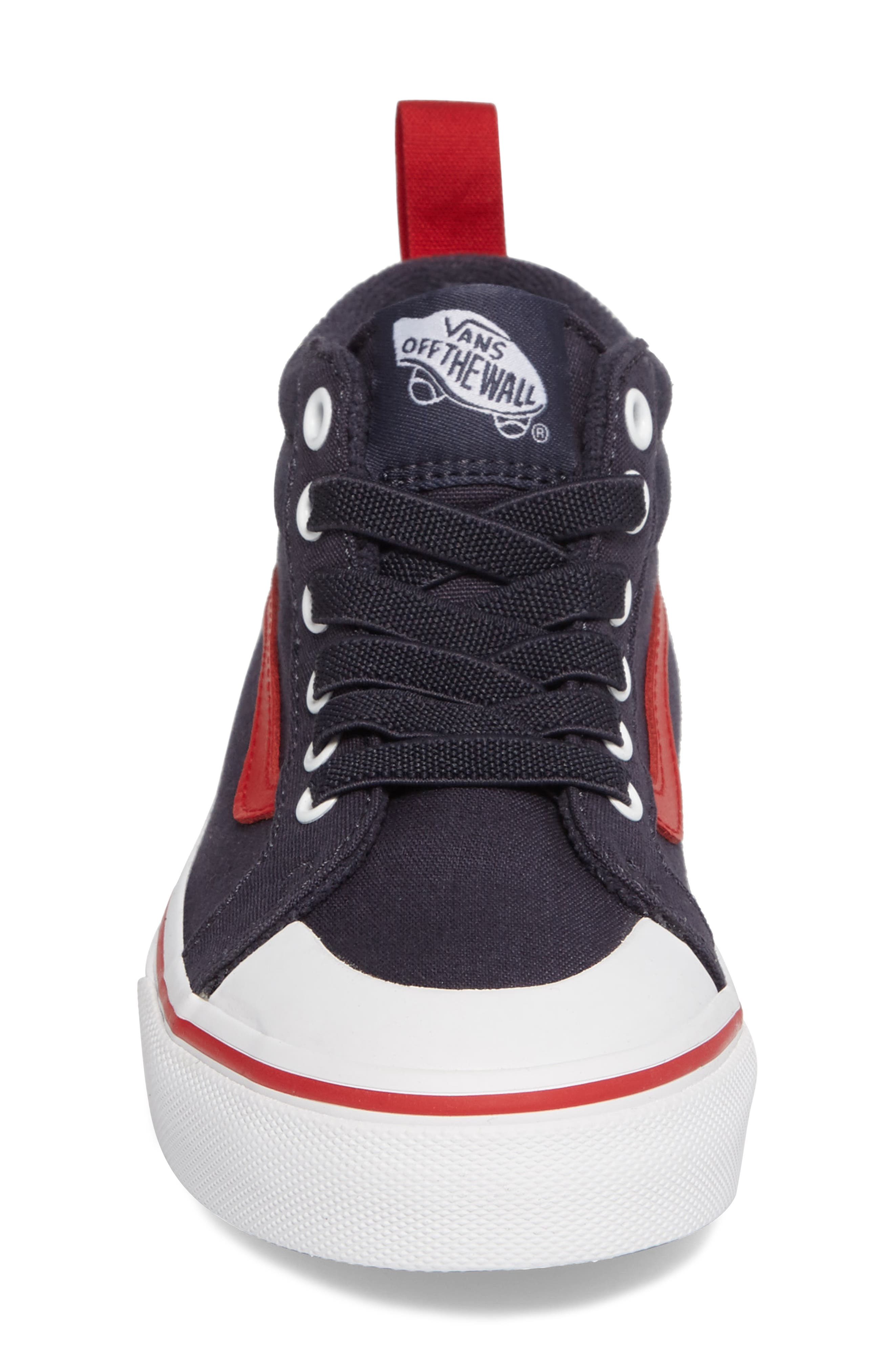 Racer Mid Elastic Lace Sneaker,                             Alternate thumbnail 28, color,