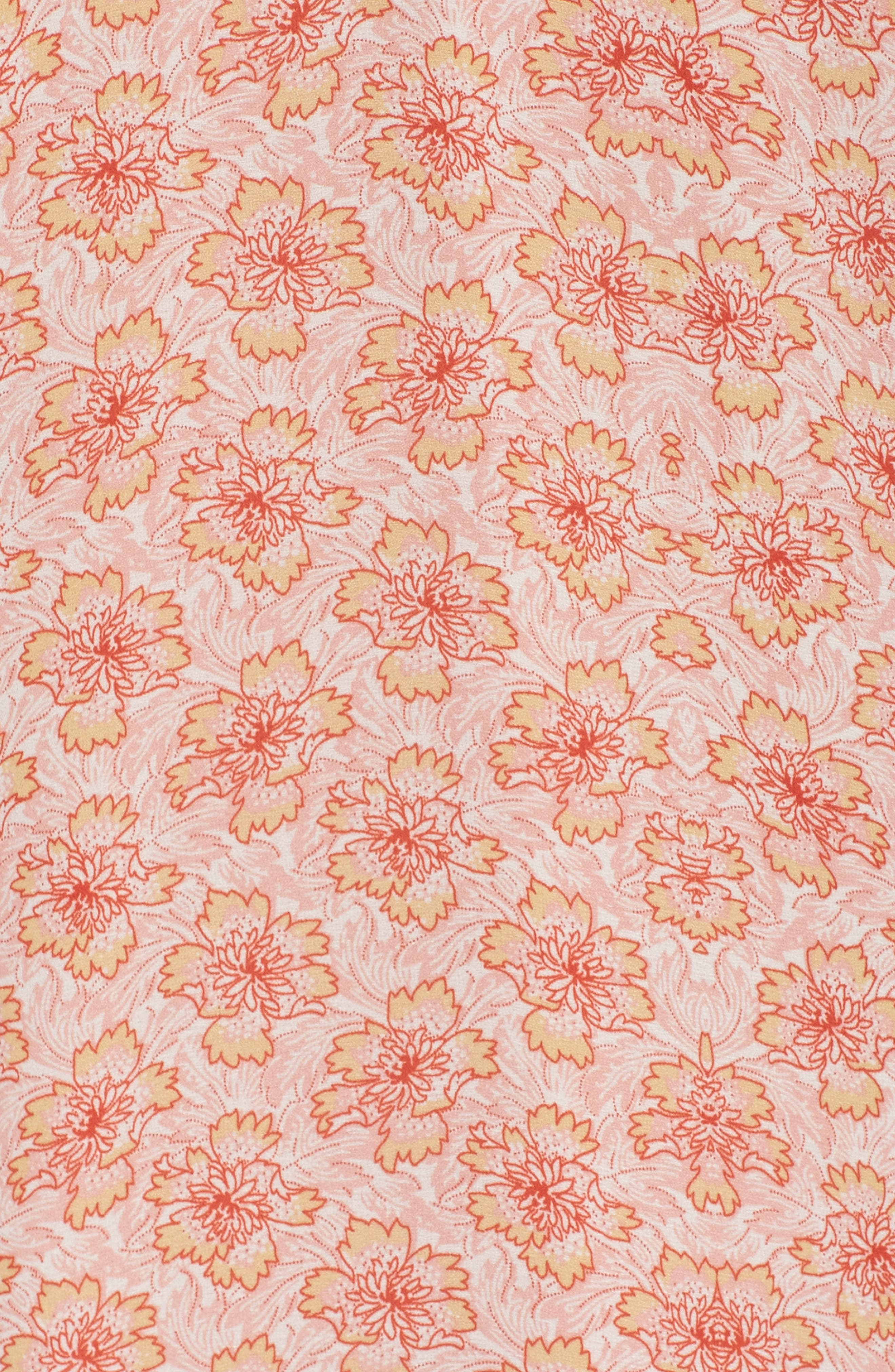 Crisscross Ruffle Shift Dress,                             Alternate thumbnail 6, color,                             653