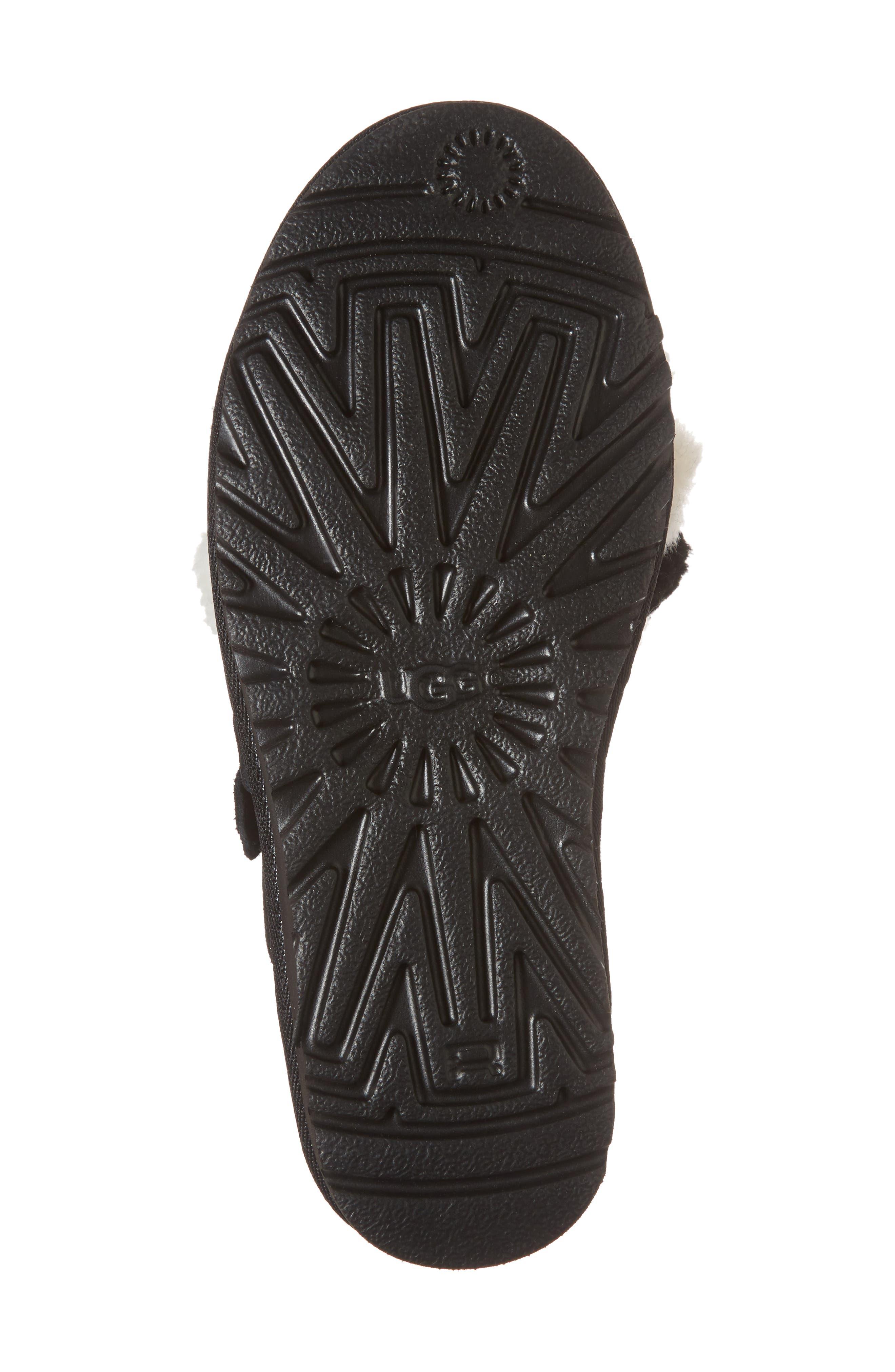 Clio Pom Pom Slide Sandal,                             Alternate thumbnail 6, color,                             001