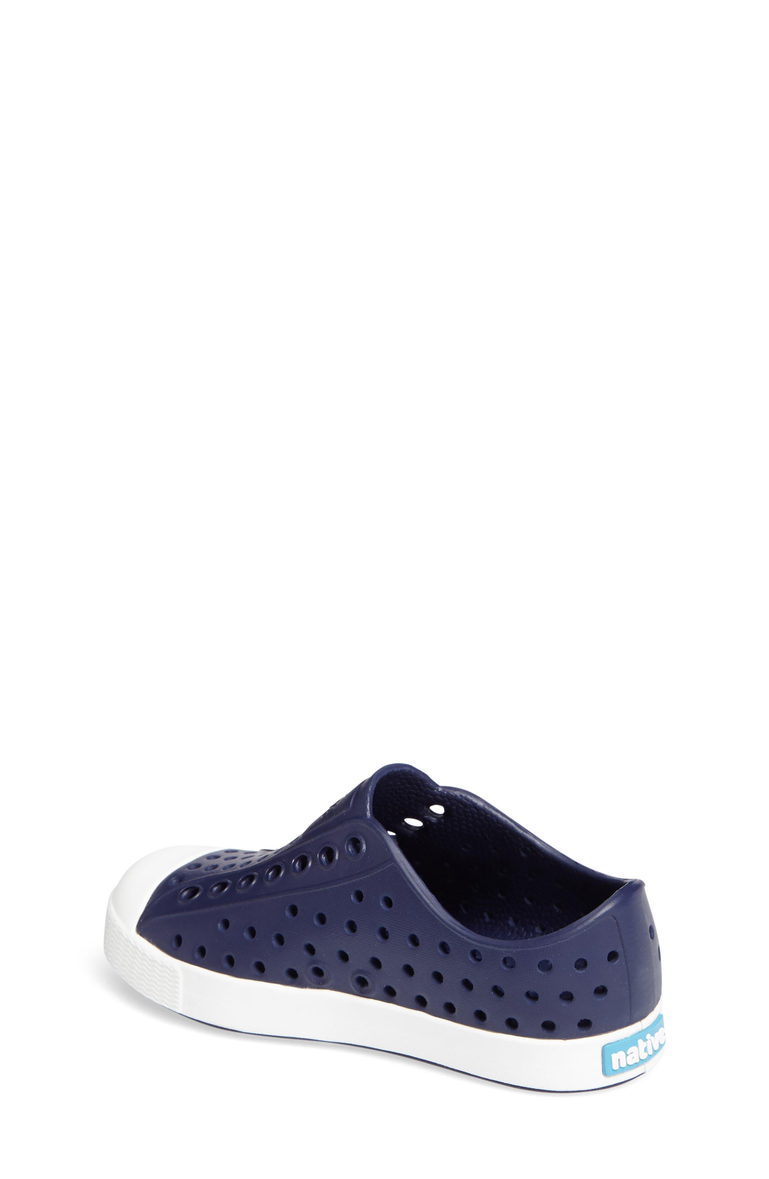 NATIVE SHOES,                             Jefferson Water Friendly Slip-On Vegan Sneaker,                             Alternate thumbnail 2, color,                             REGATTA BLUE/ SHELL WHITE