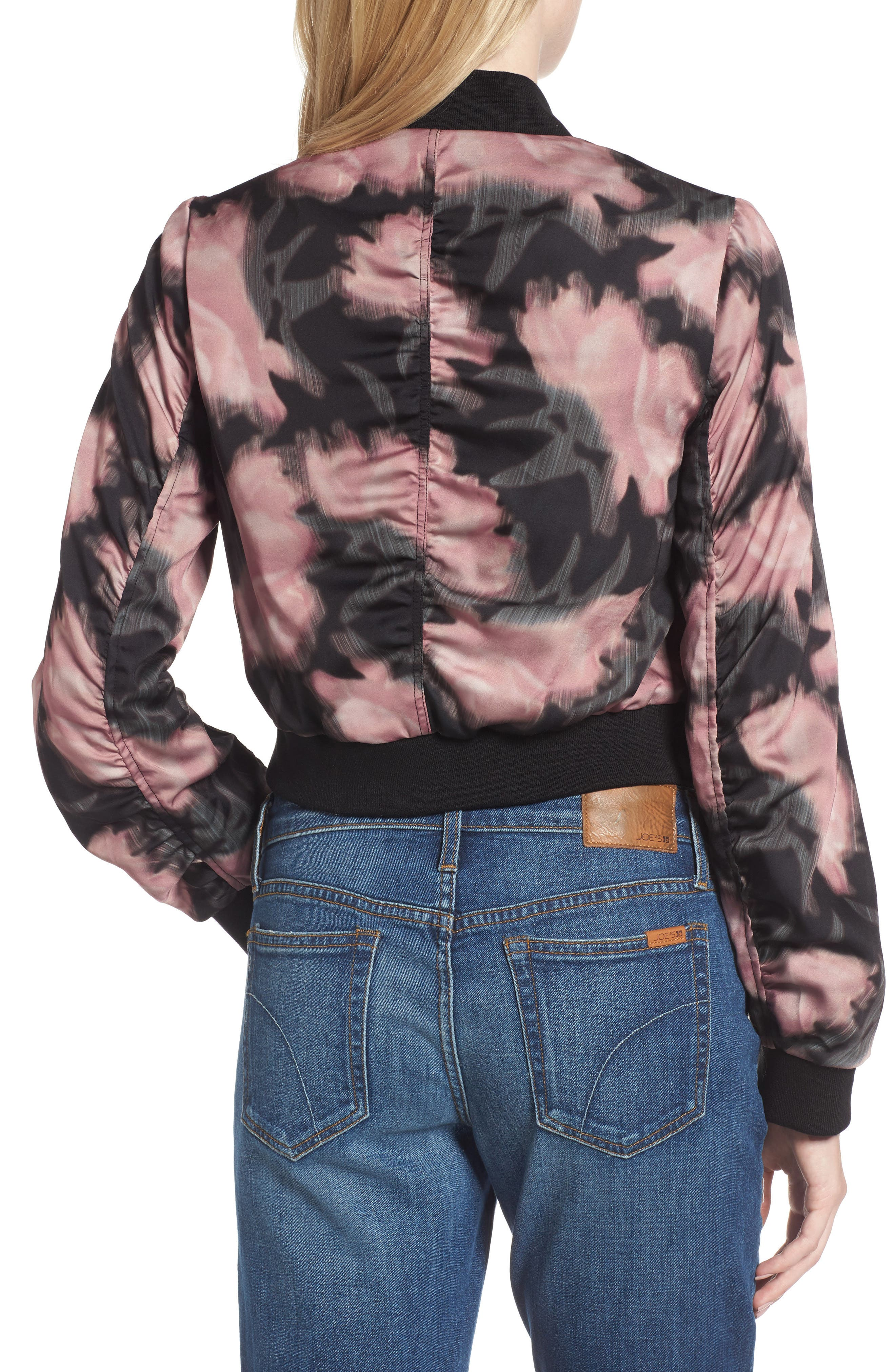 Denni Floral Bomber Jacket,                             Alternate thumbnail 2, color,                             017