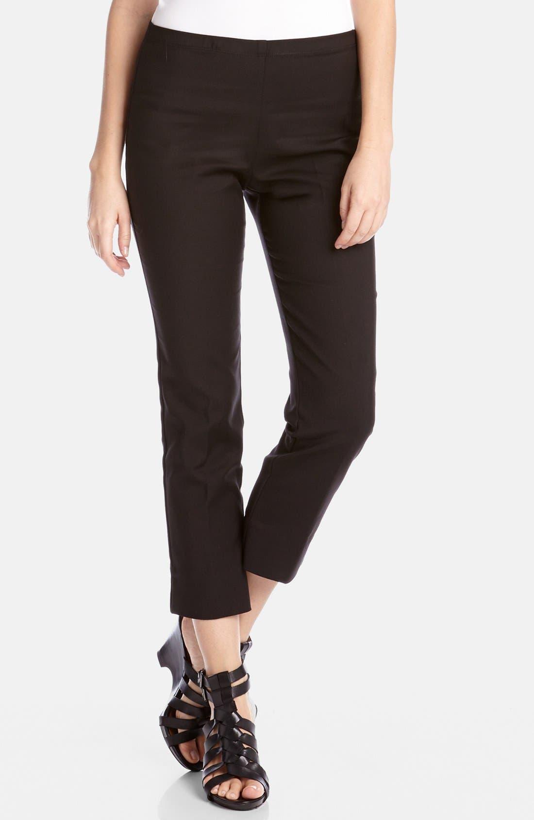 Karen Kane Stretch Woven Capri Pants, Black