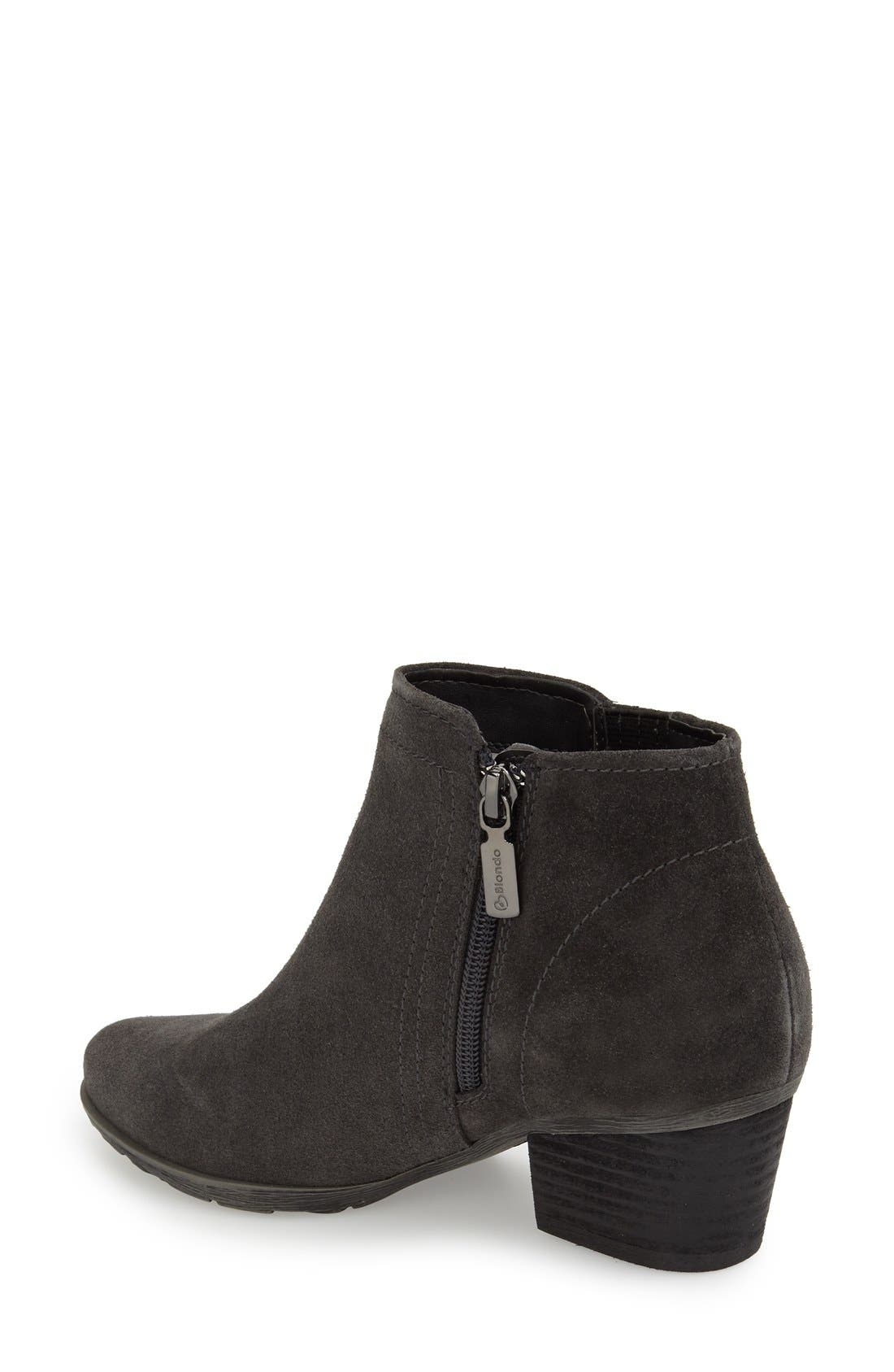 'Valli' Waterproof  Bootie,                             Alternate thumbnail 2, color,                             GREY SUEDE