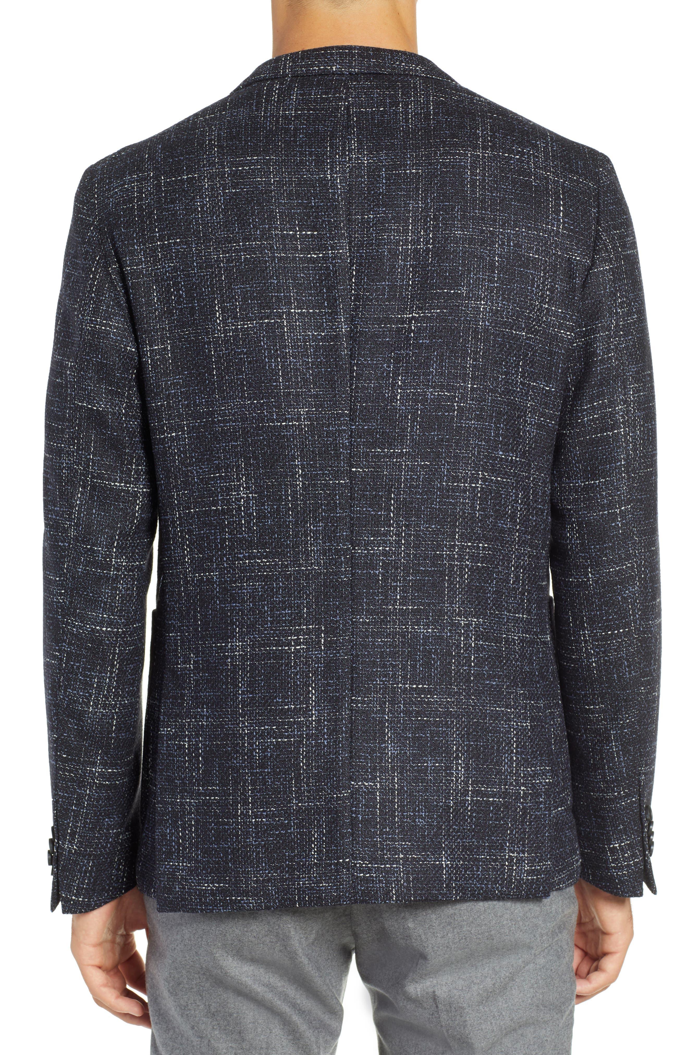 Nold Slim Fit Plaid Wool Blend Sport Coat,                             Alternate thumbnail 2, color,                             OPEN BLUE